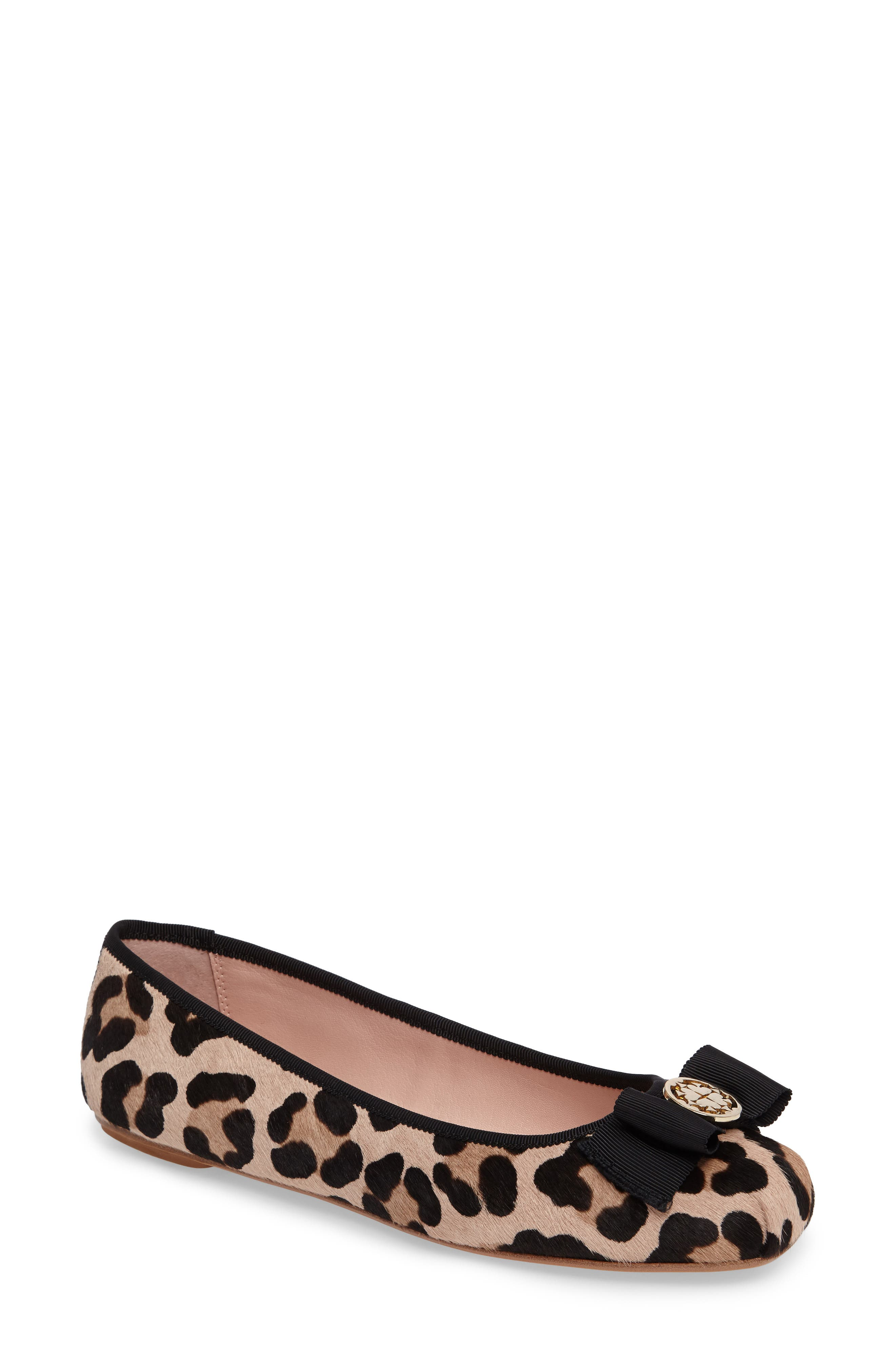 Main Image - kate spade new york fontana too genuine calf hair ballet flat (Women)