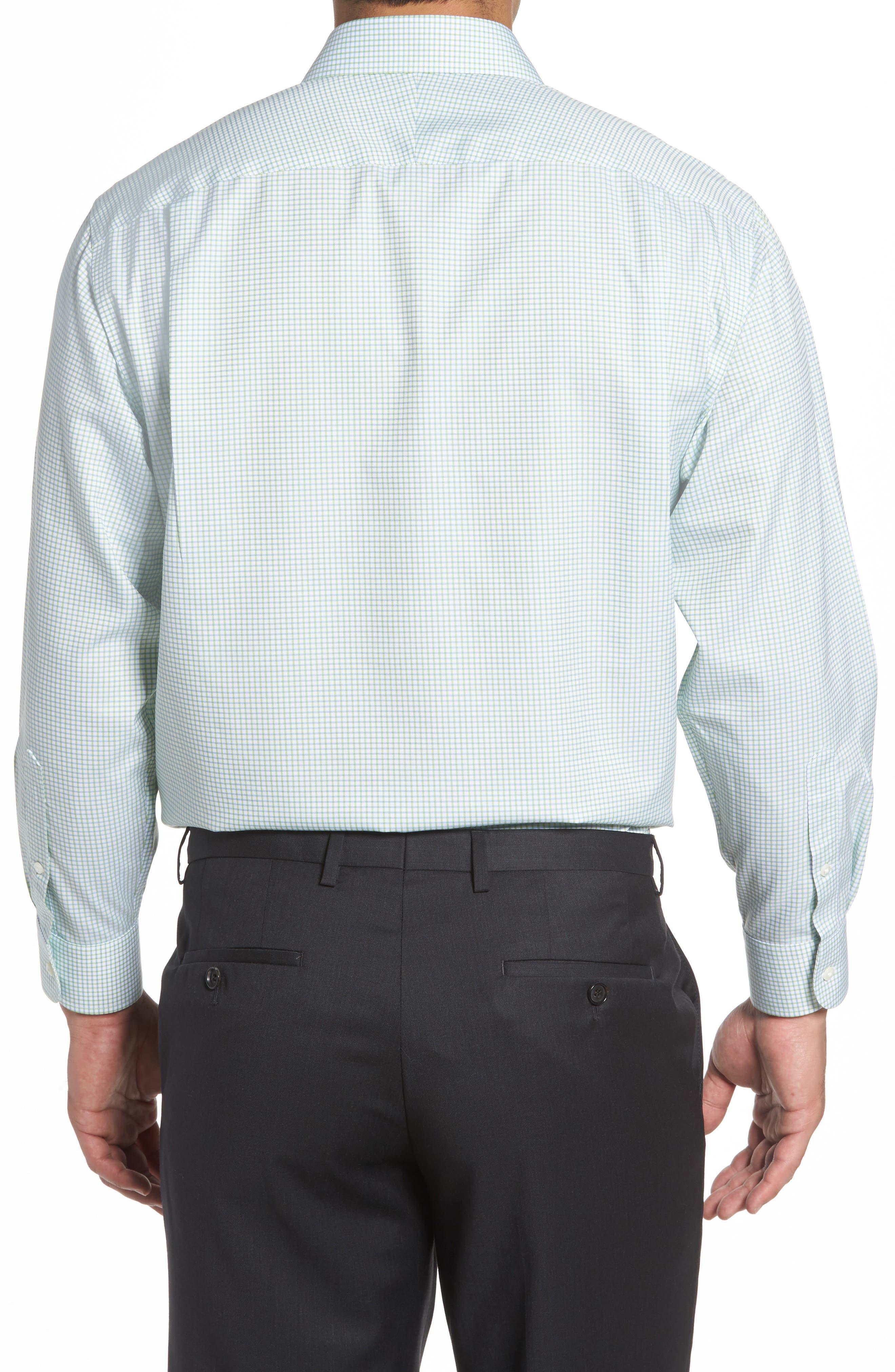 Smartcare<sup>™</sup> Classic Fit Check Dress Shirt,                             Alternate thumbnail 3, color,                             Green Atom