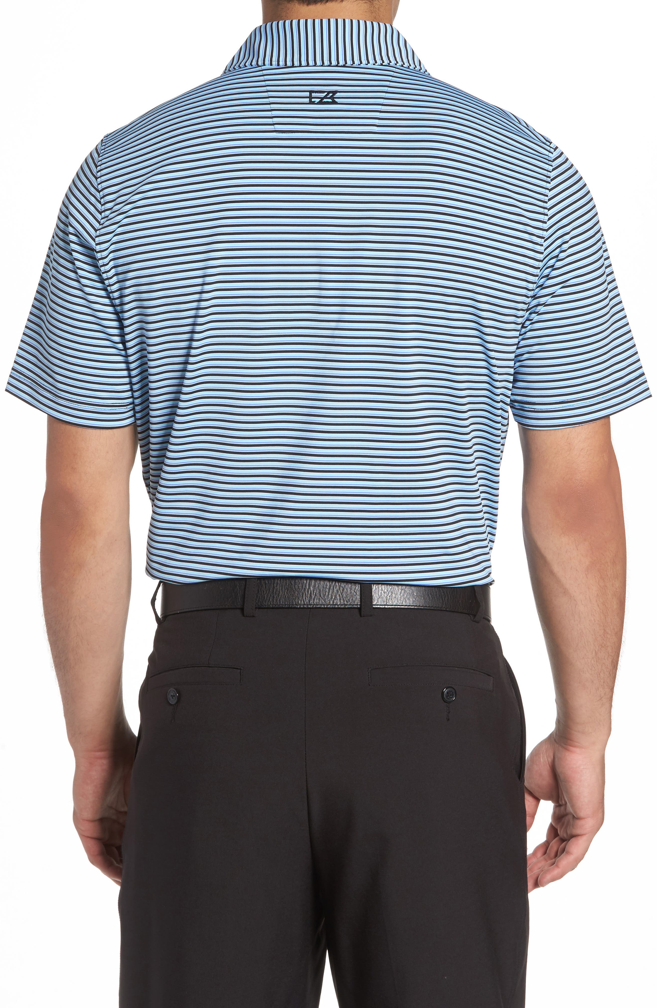 Division Stripe Jersey Polo,                             Alternate thumbnail 2, color,                             Black/ Aruba