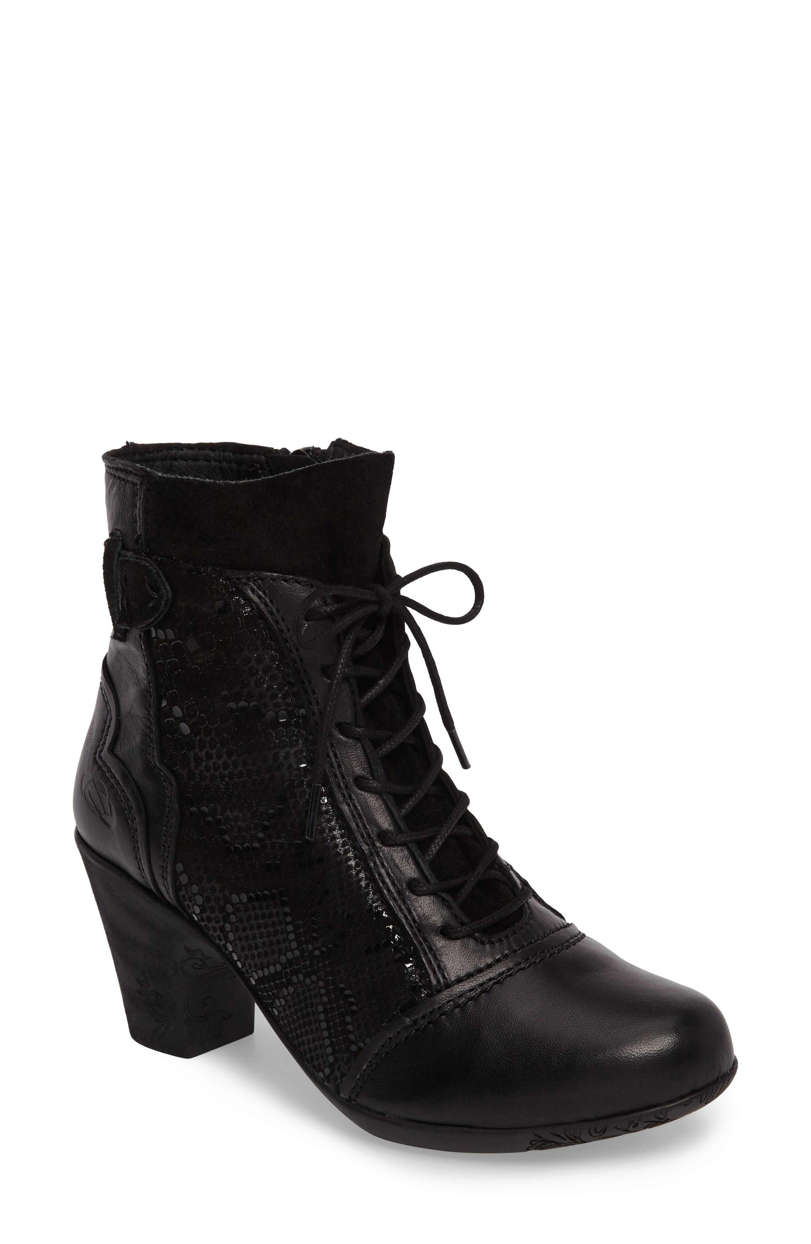 Jesse Fantasy Snake Texture Bootie,                         Main,                         color, Black Leather