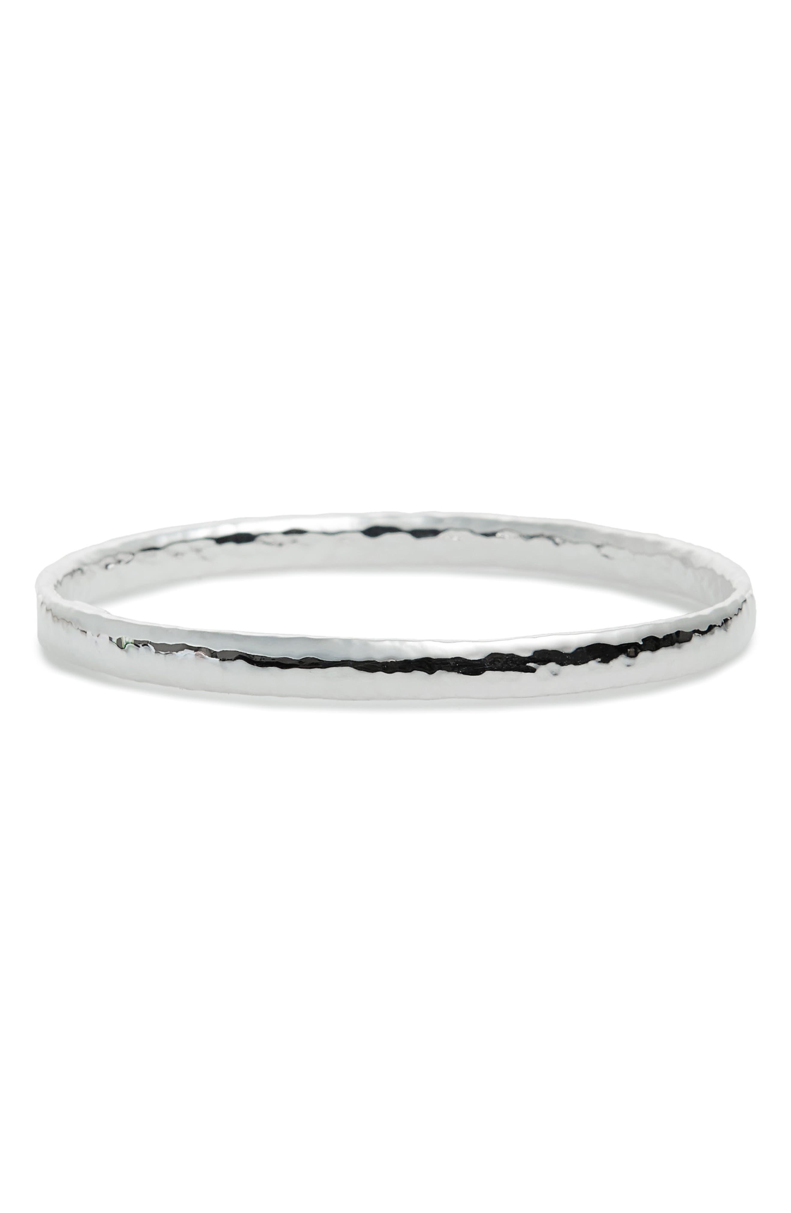 'Glamazon' Sterling Silver Bangle,                         Main,                         color, Silver
