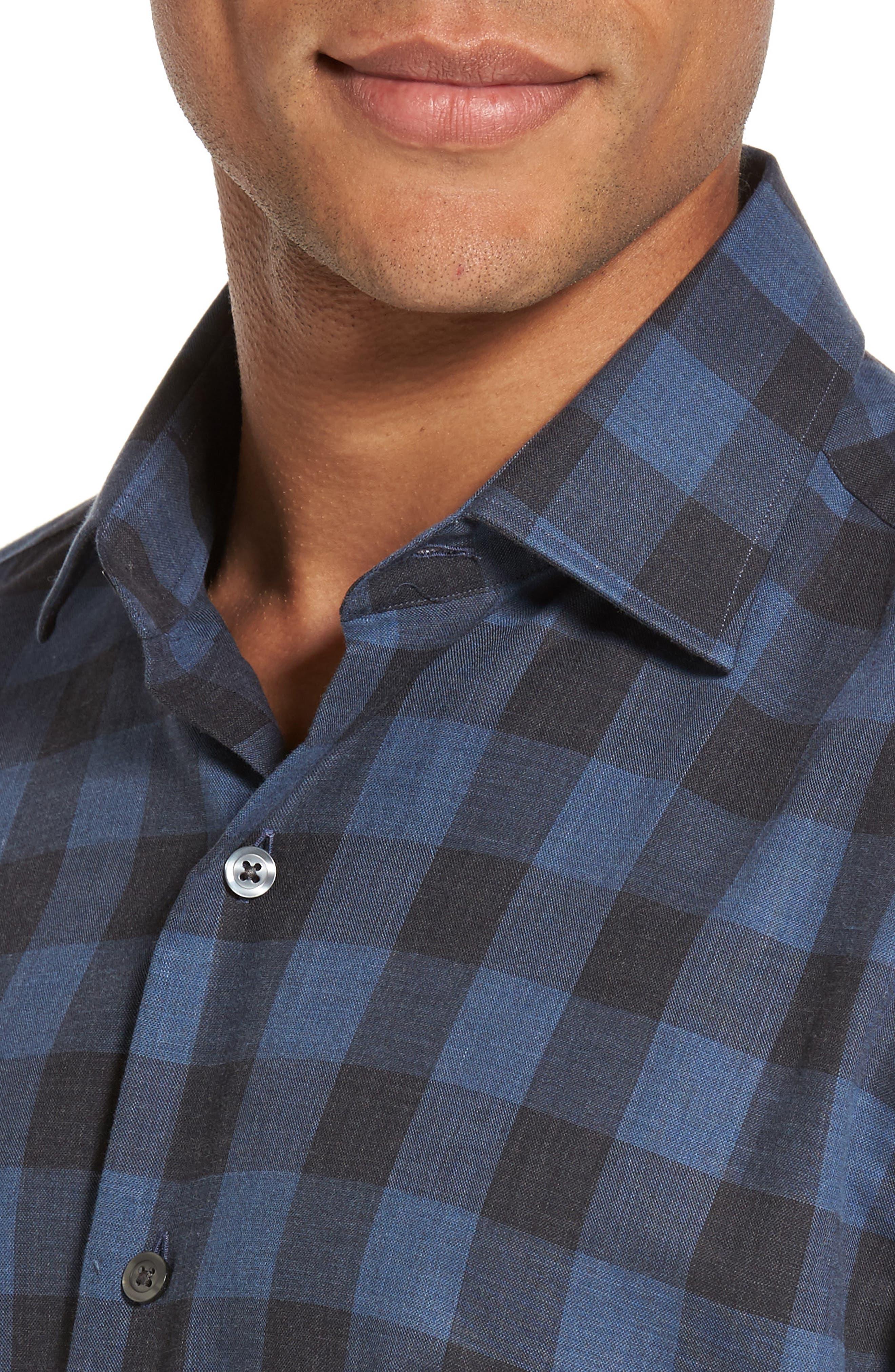 Alternate Image 4  - Culturata Trim Fit Buffalo Check Sport Shirt