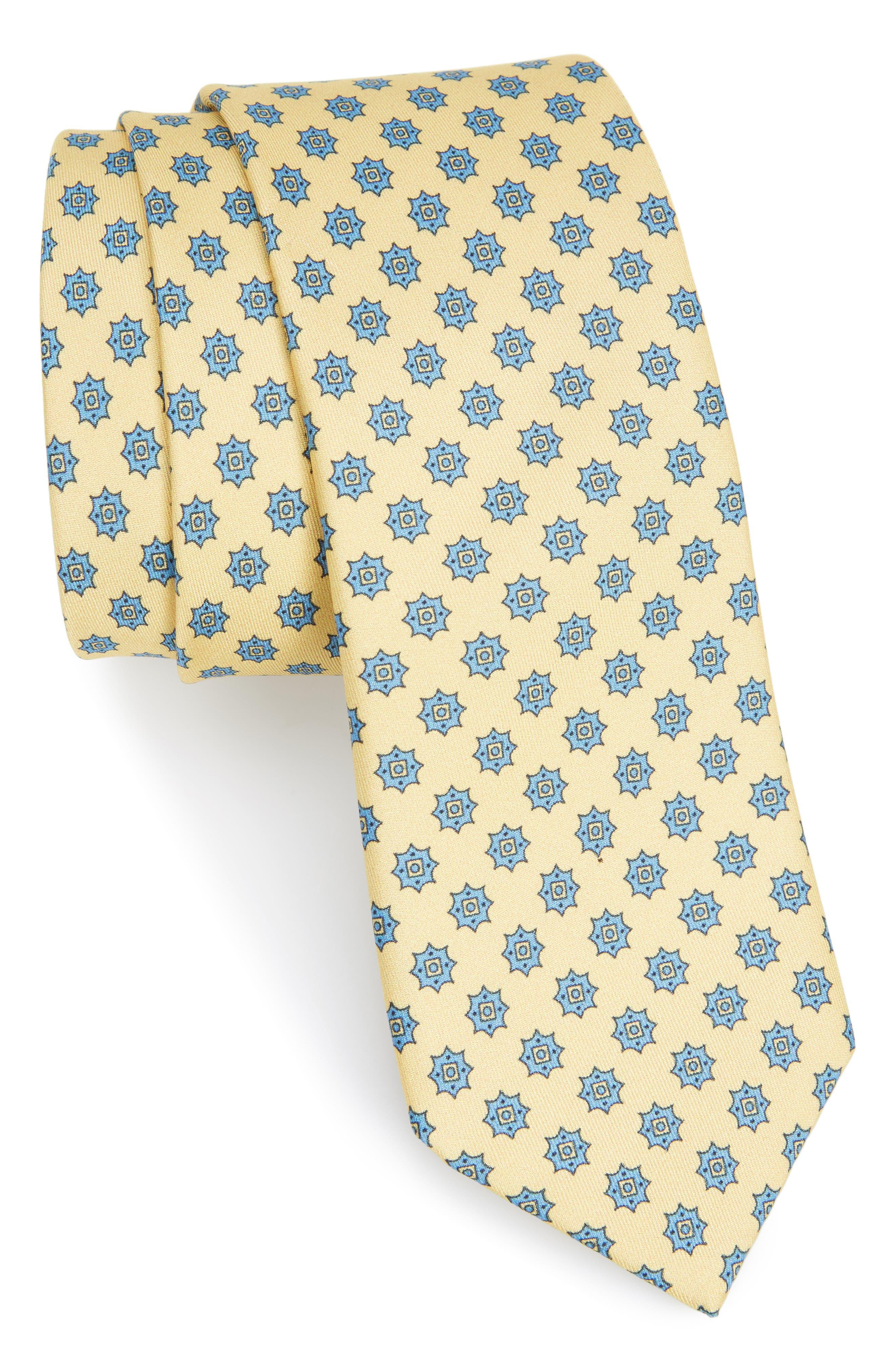 Major Star Silk Tie,                             Main thumbnail 1, color,                             Butter