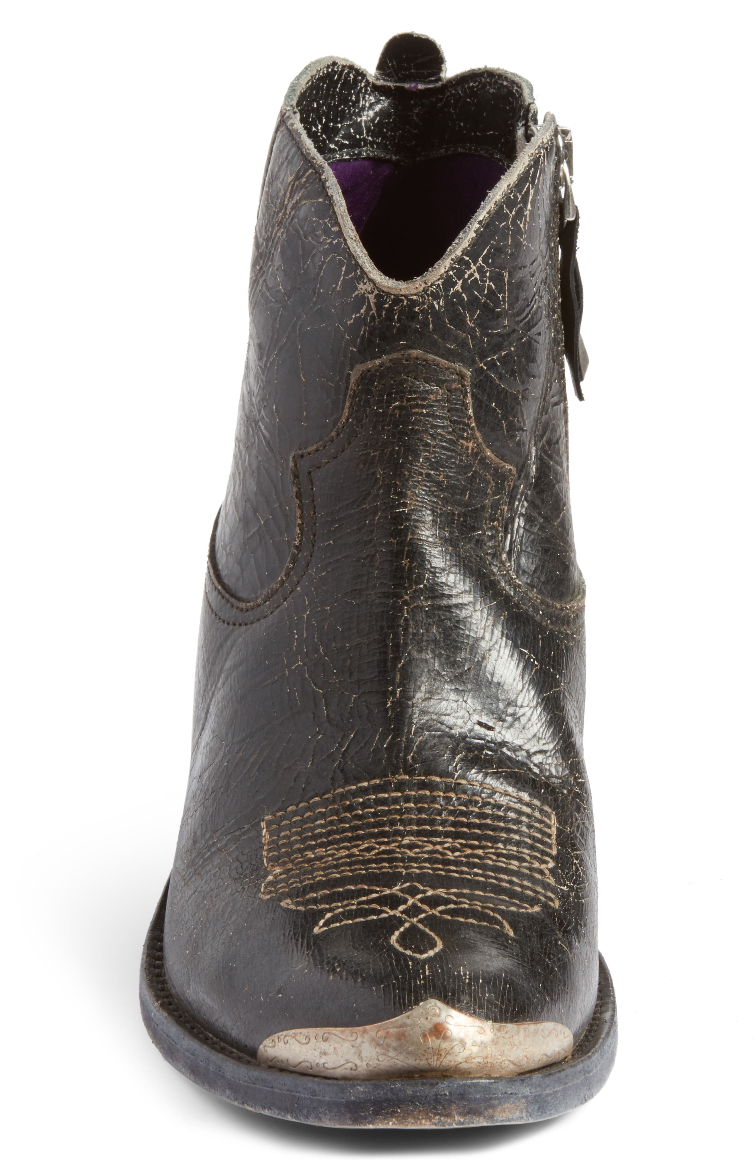 Young Western Boot,                             Alternate thumbnail 3, color,                             Black