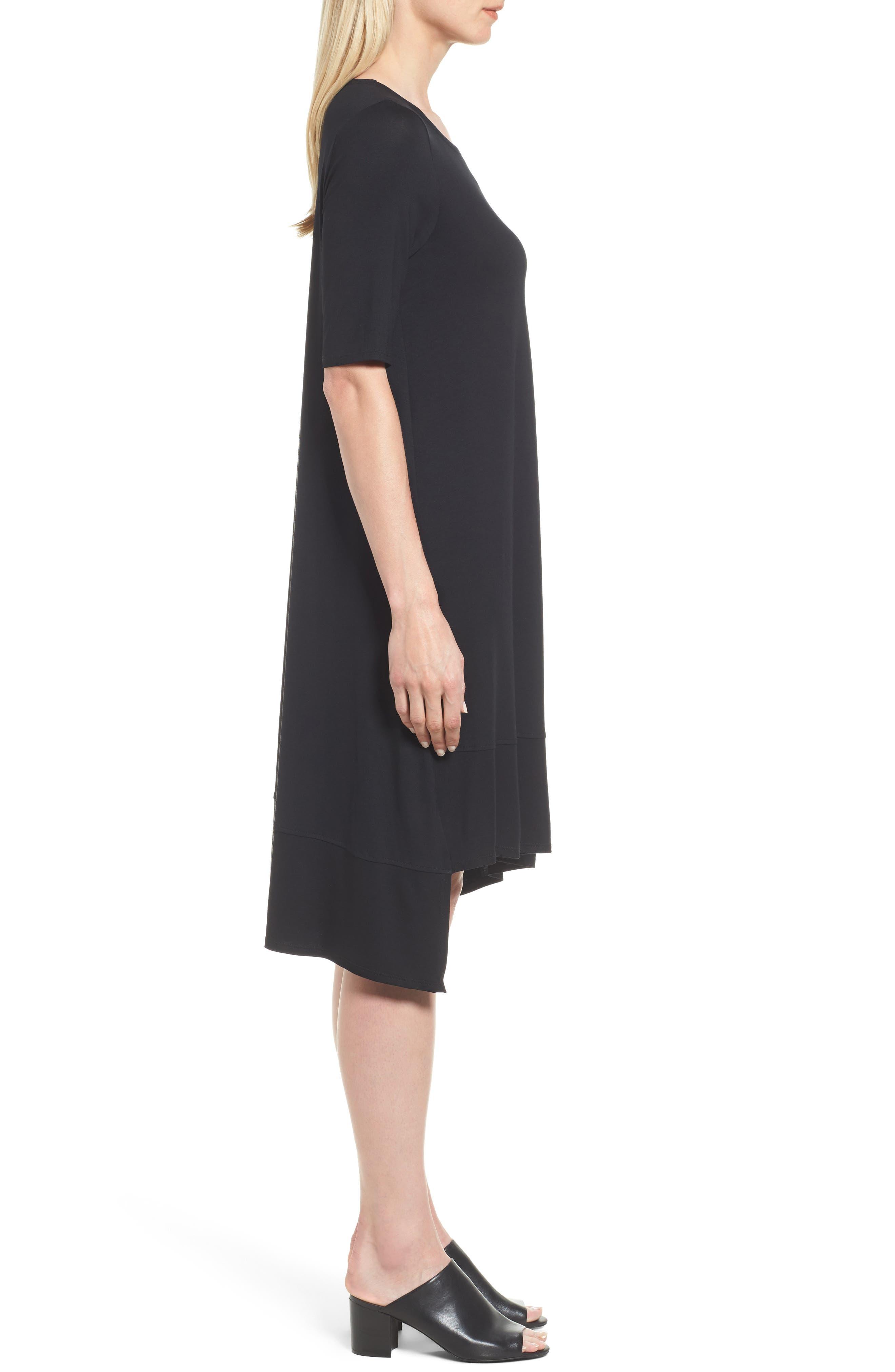 Alternate Image 3  - Eileen Fisher Jersey Asymmetrical A-Line Dress
