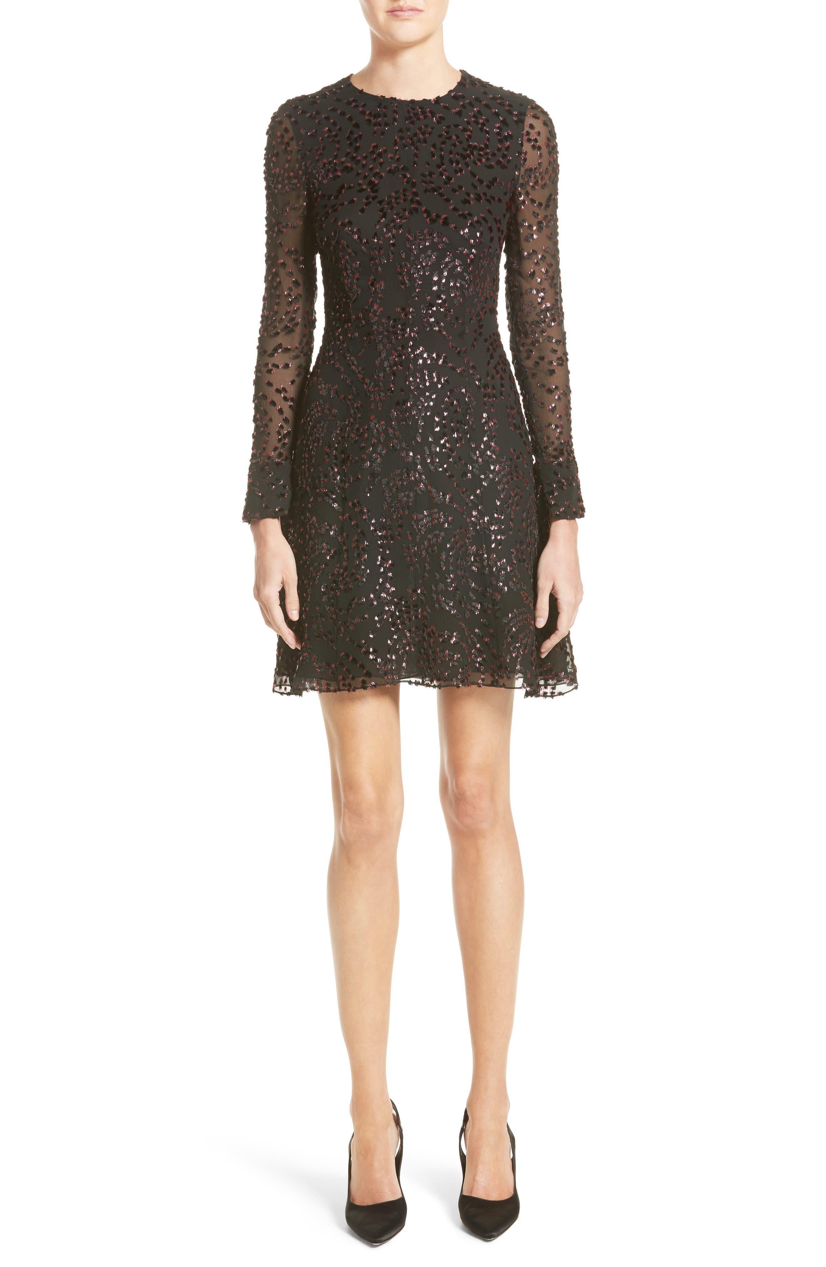 Adam Lippes Flocked Lurex® Metallic Velvet Dress