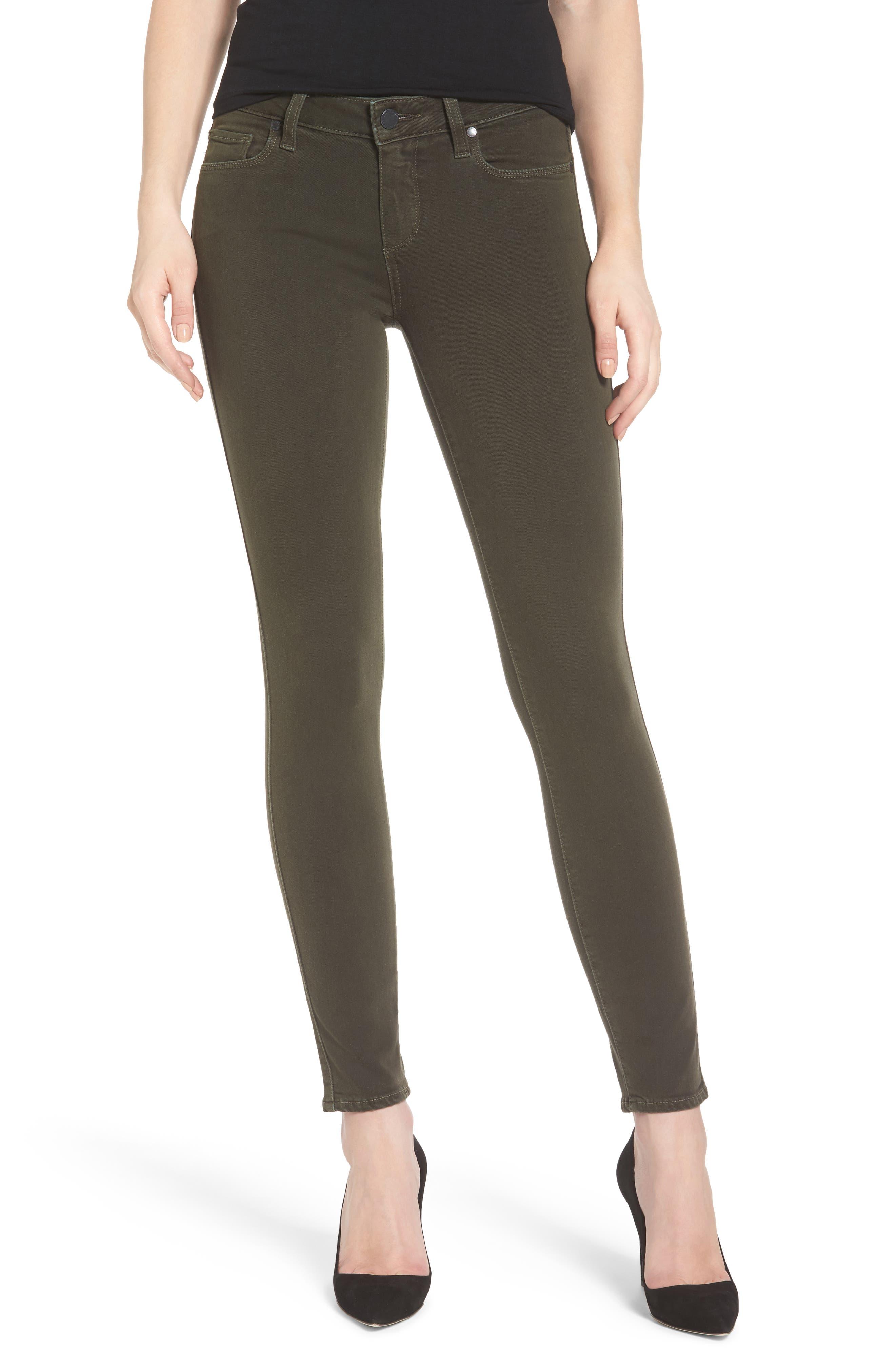 Transcend - Verdugo Ankle Skinny Jeans,                         Main,                         color, Deep Juniper