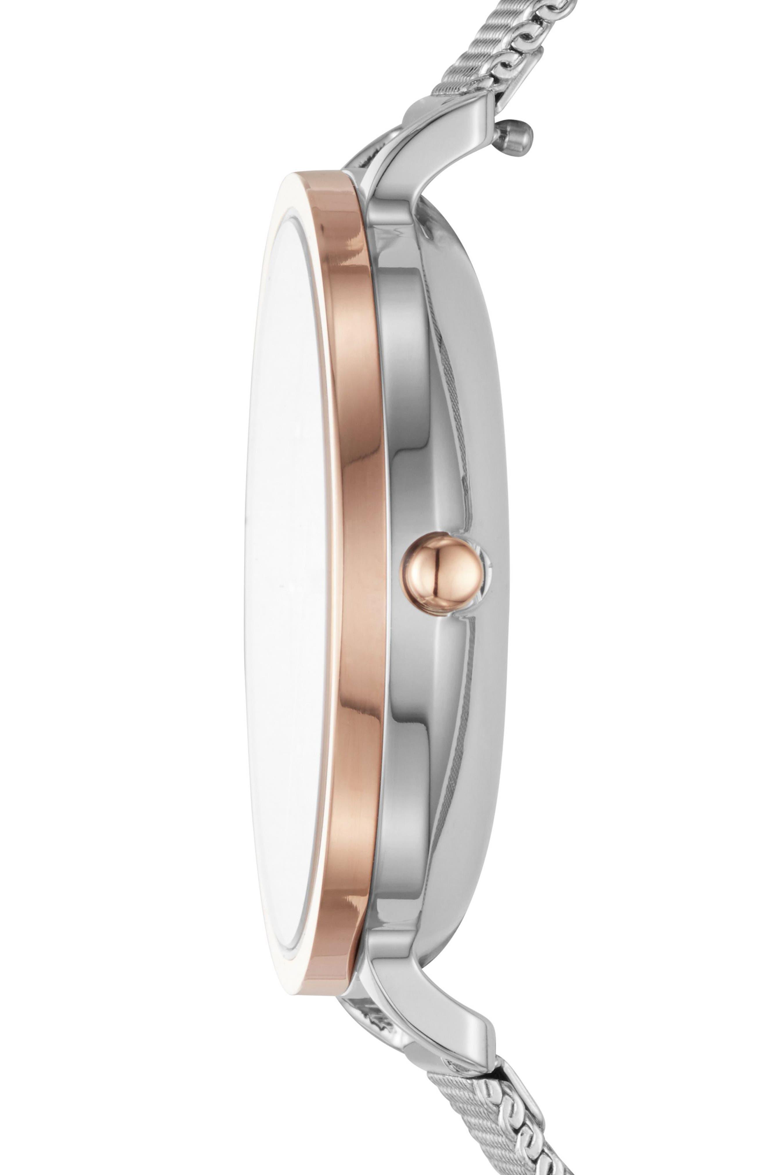 Alternate Image 3  - Skagen Hagen Mesh Strap Watch, 34mm