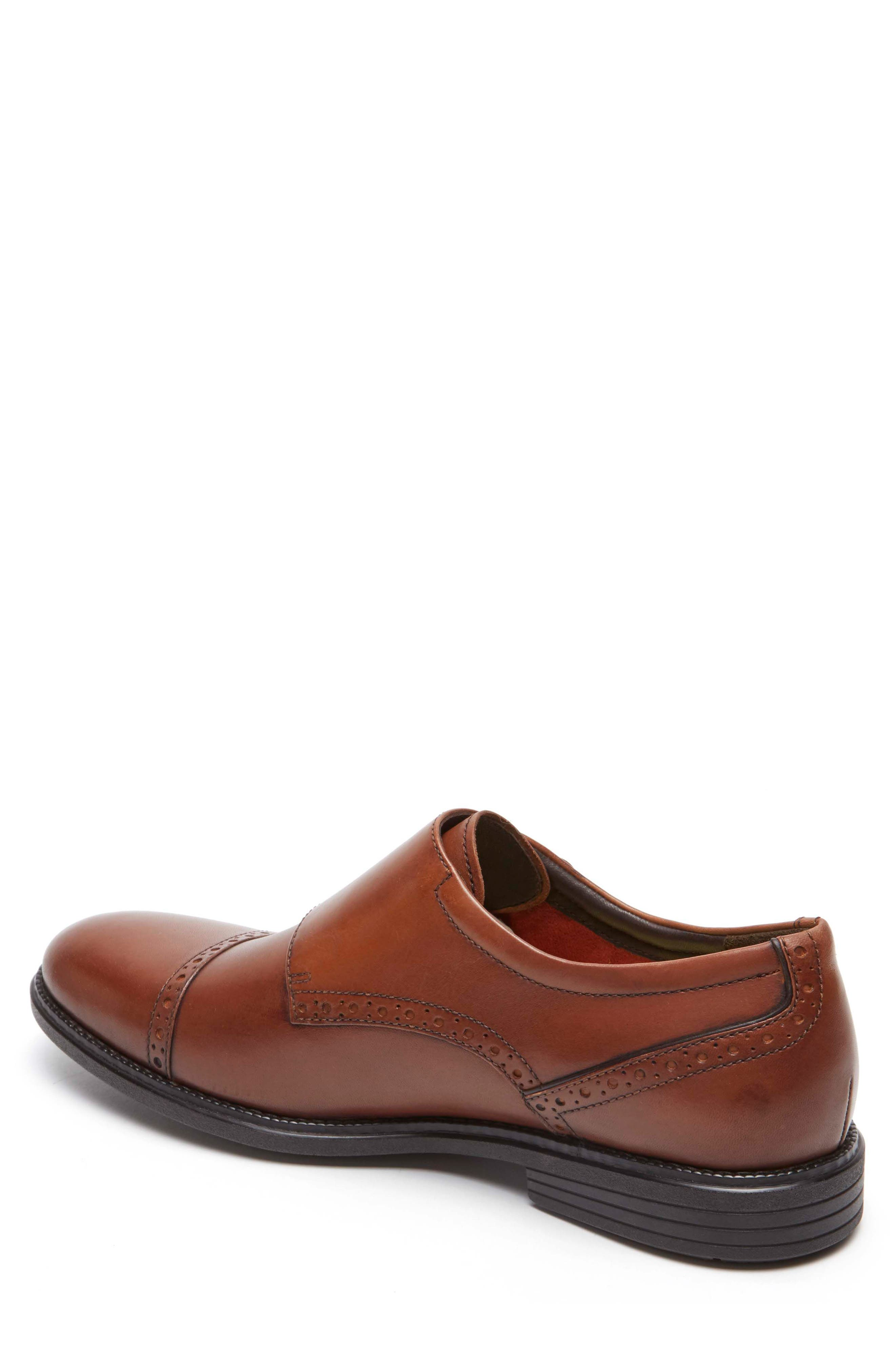 Madson Double Monk Strap Shoe,                             Alternate thumbnail 2, color,                             Tan Leather