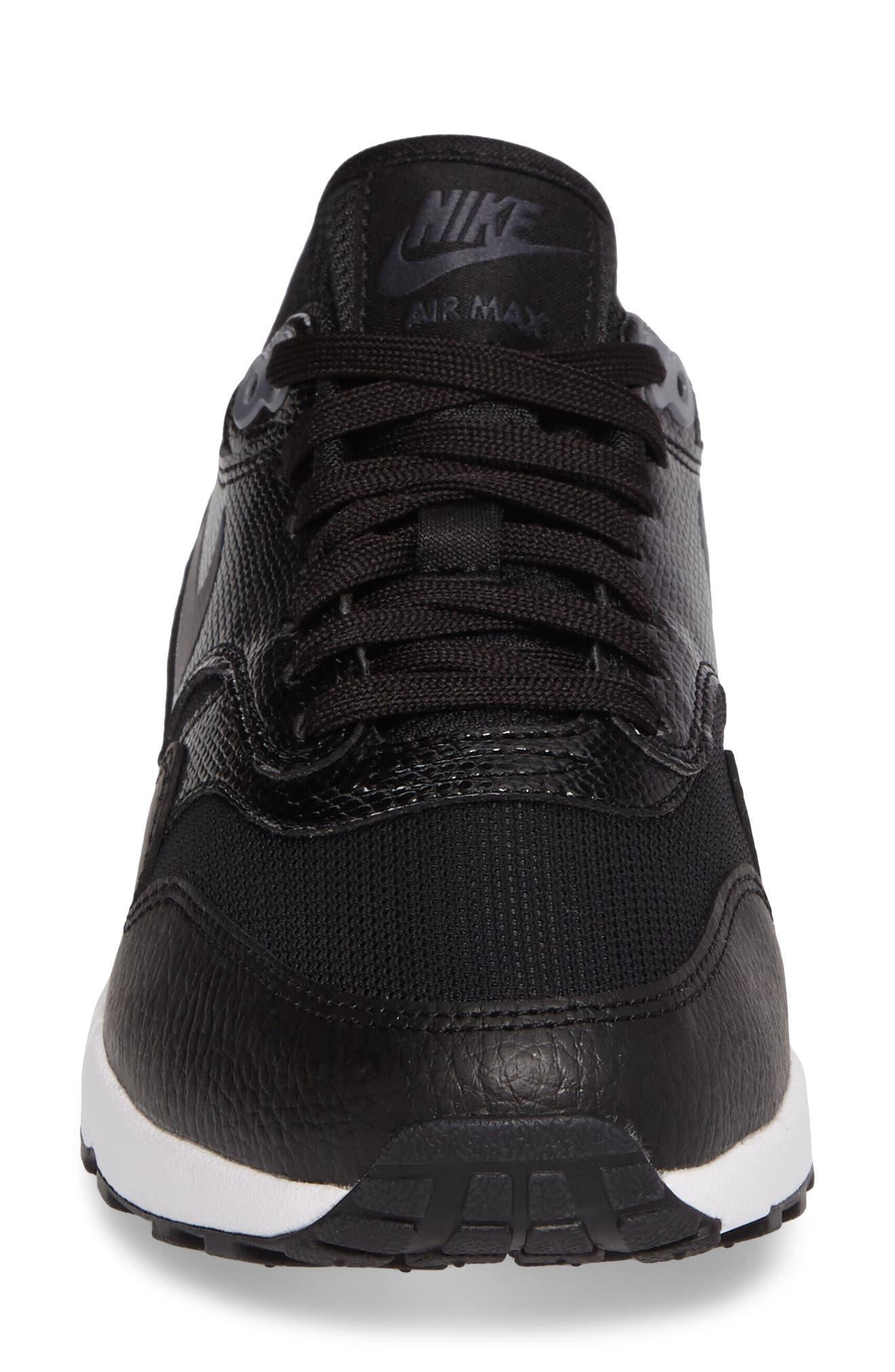 Air Max 1 Ultra 2.0 Running Shoe,                             Alternate thumbnail 4, color,                             Hematite/ Black/ White