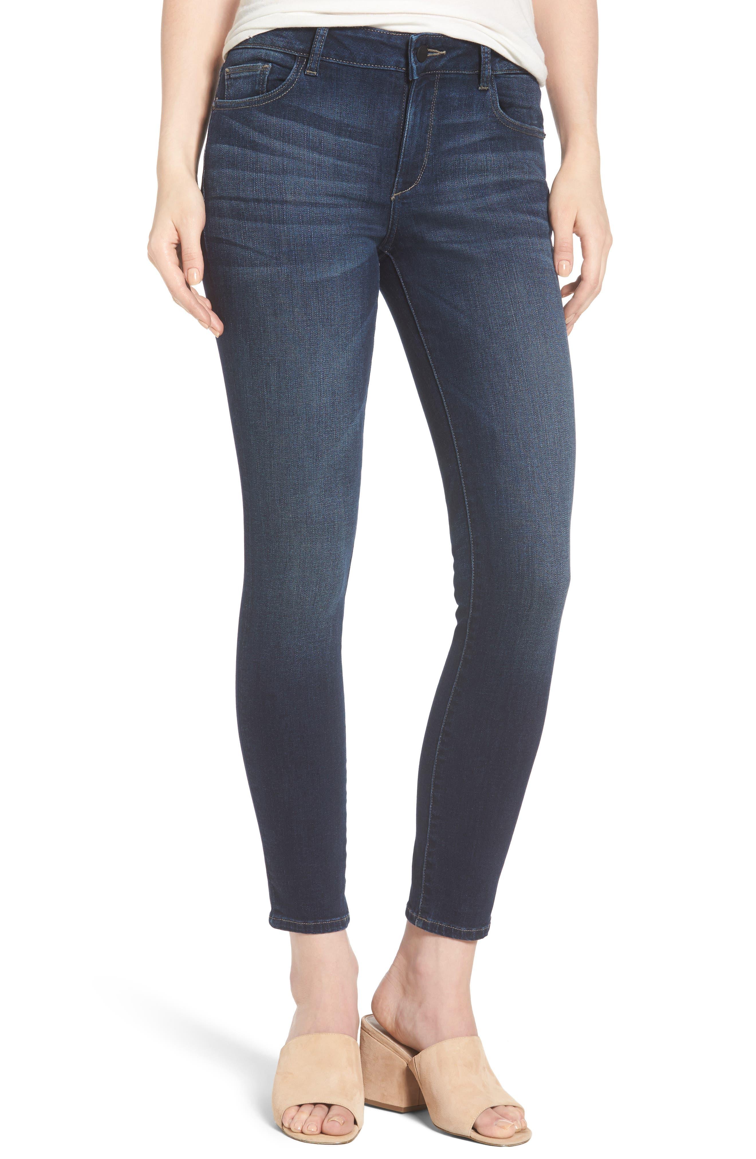 Main Image - DL1961 Margaux Instasculpt Ankle Skinny Jeans (Salt Creek)
