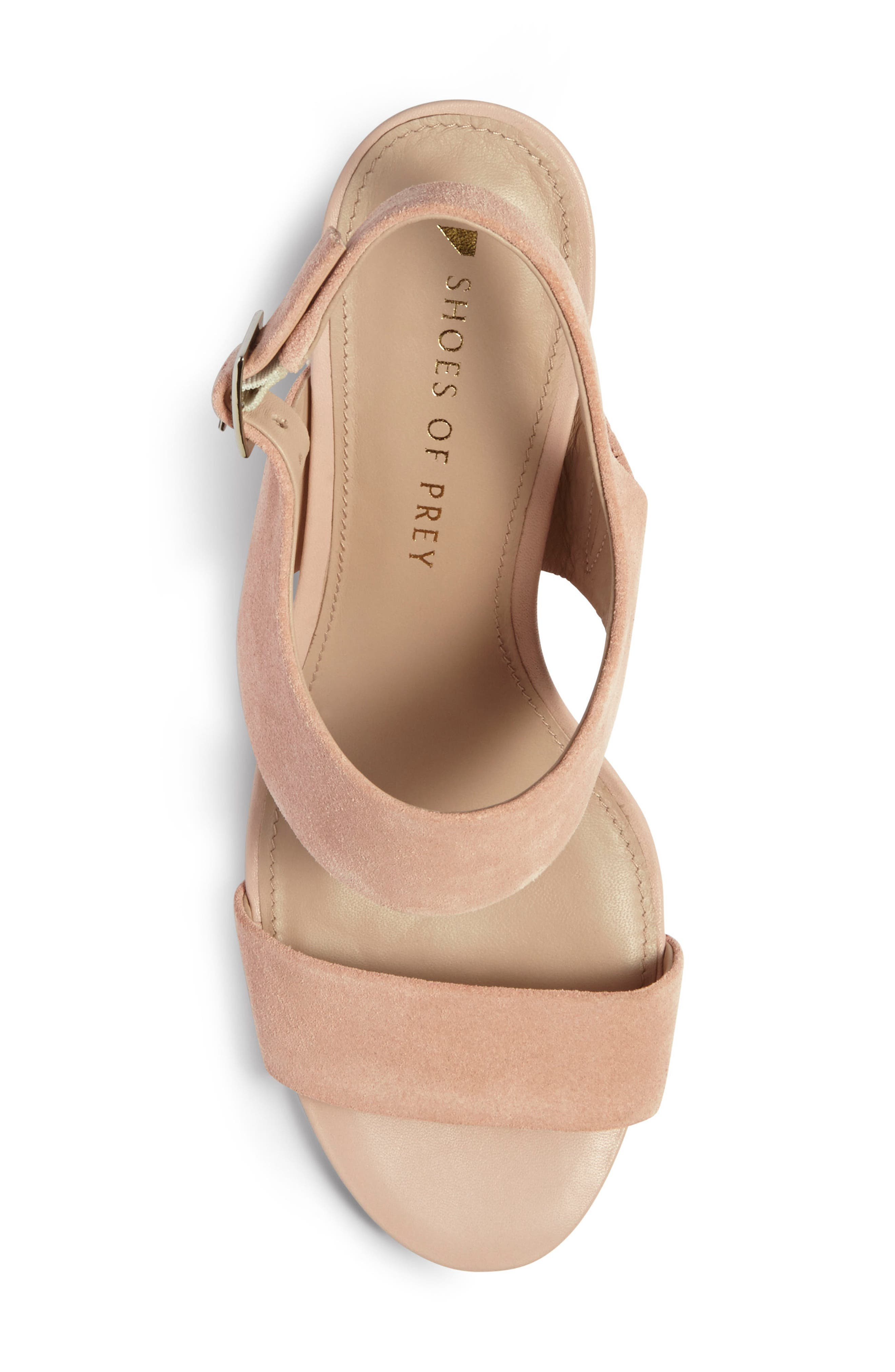 Strappy Sandal,                             Alternate thumbnail 4, color,                             Blush Nude Suede