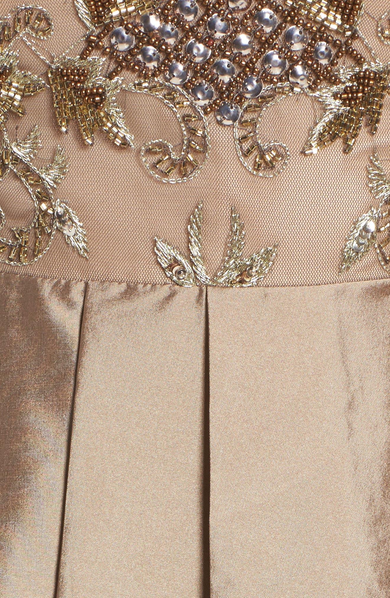 Alternate Image 5  - Adrianna Papell Embellished High/Low Off the Shoulder Dress