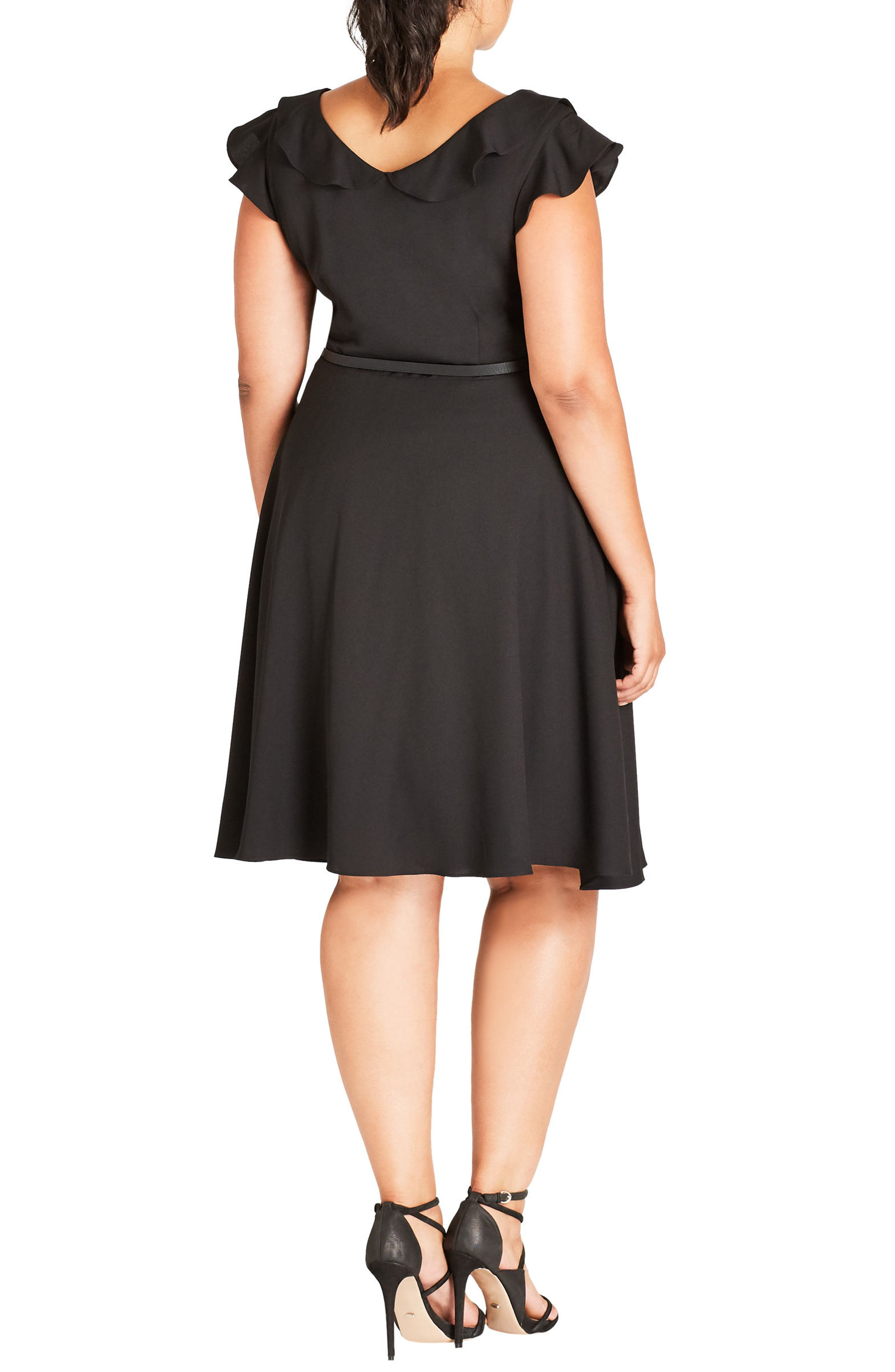 Alternate Image 2  - City Chic Pretty Bow Fit & Flare Dress (Plus Size)