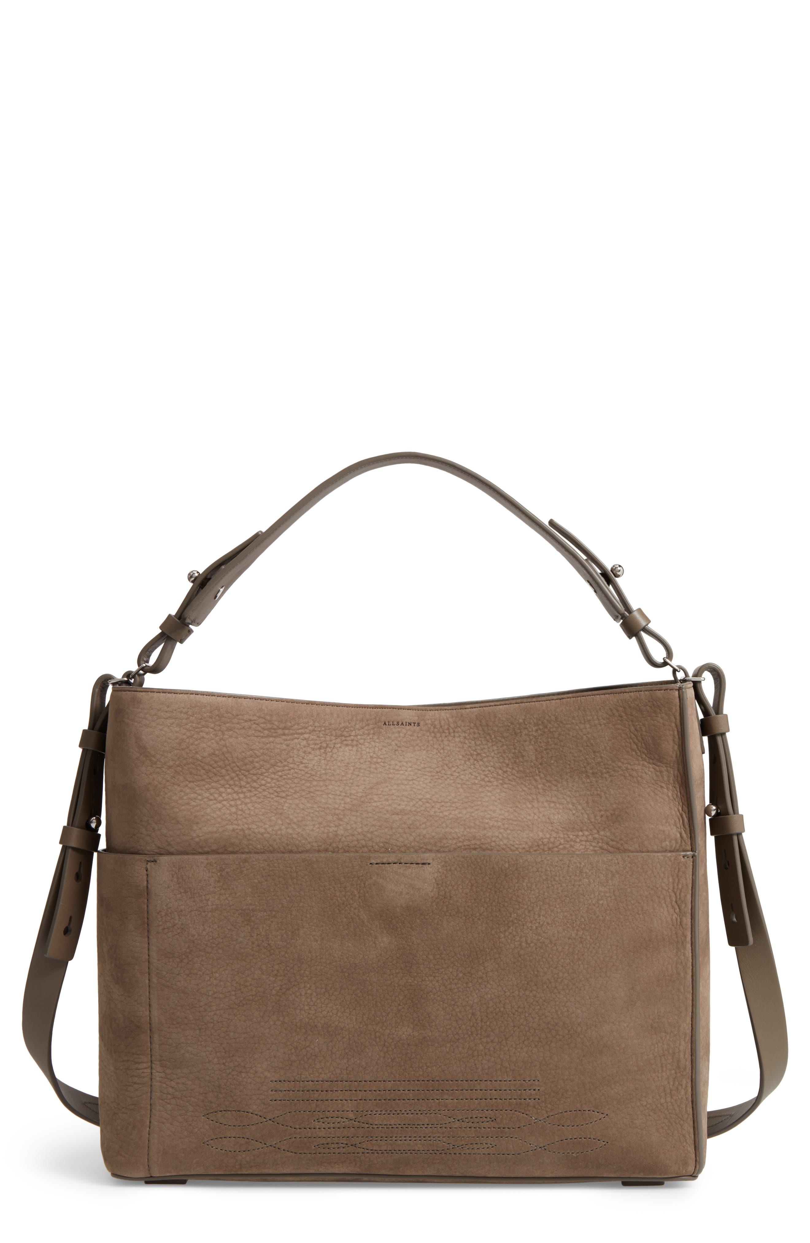 Main Image - ALLSAINTS Cooper Nubuck Calfskin Leather Tote