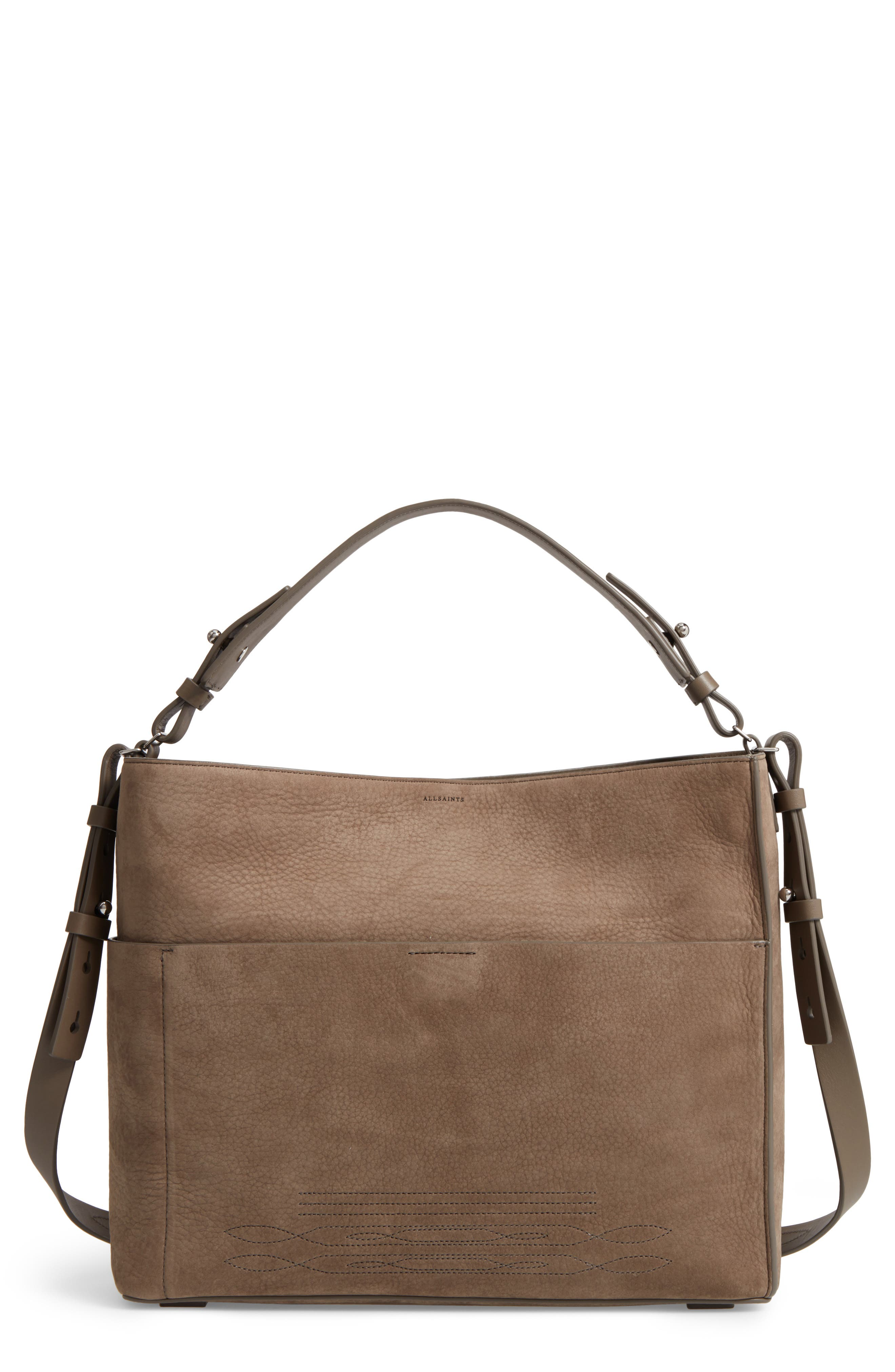 ALLSAINTS Cooper Nubuck Calfskin Leather Tote