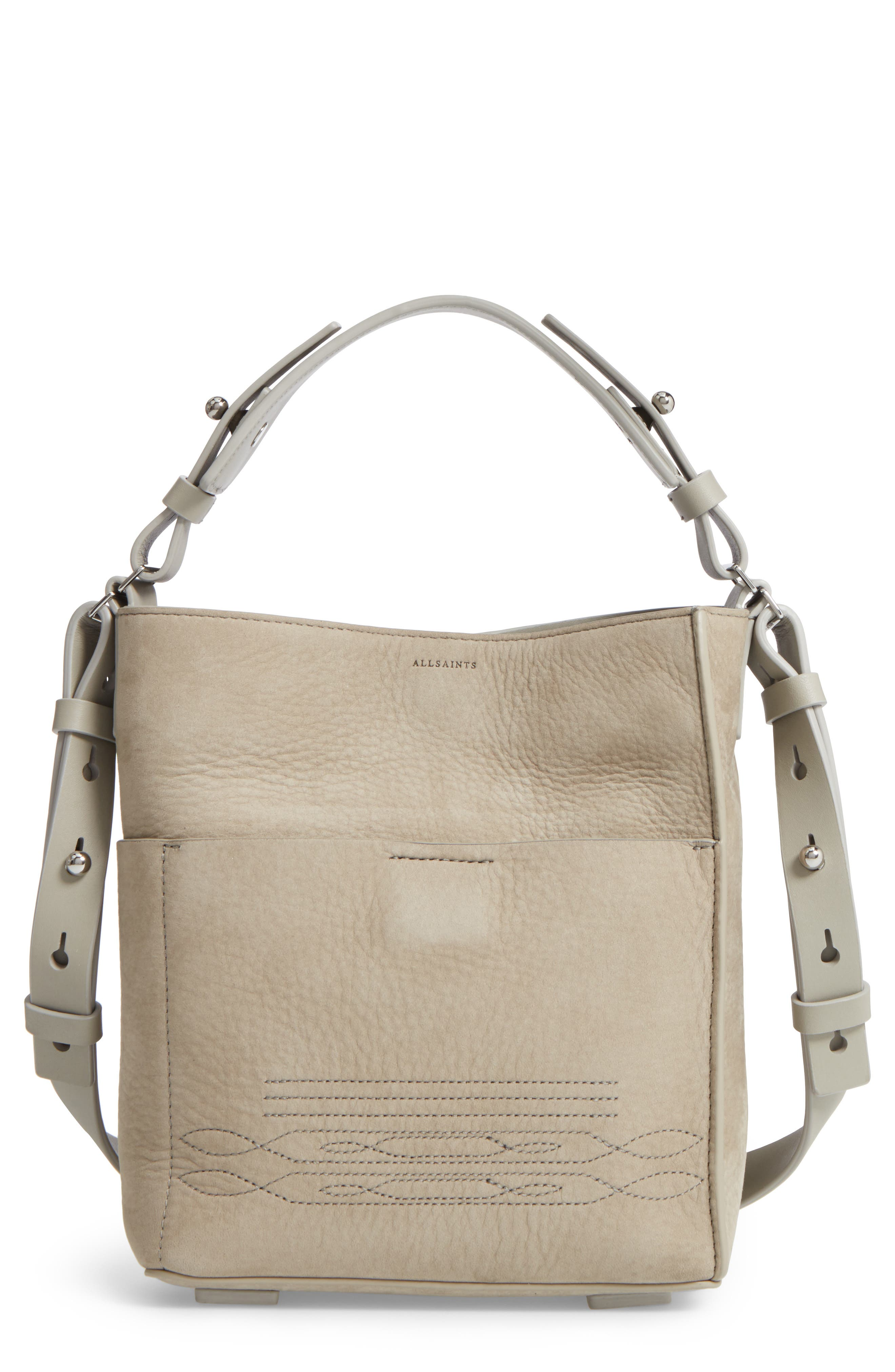 Cooper Mini Leather Tote,                             Main thumbnail 1, color,                             Light Cement Grey