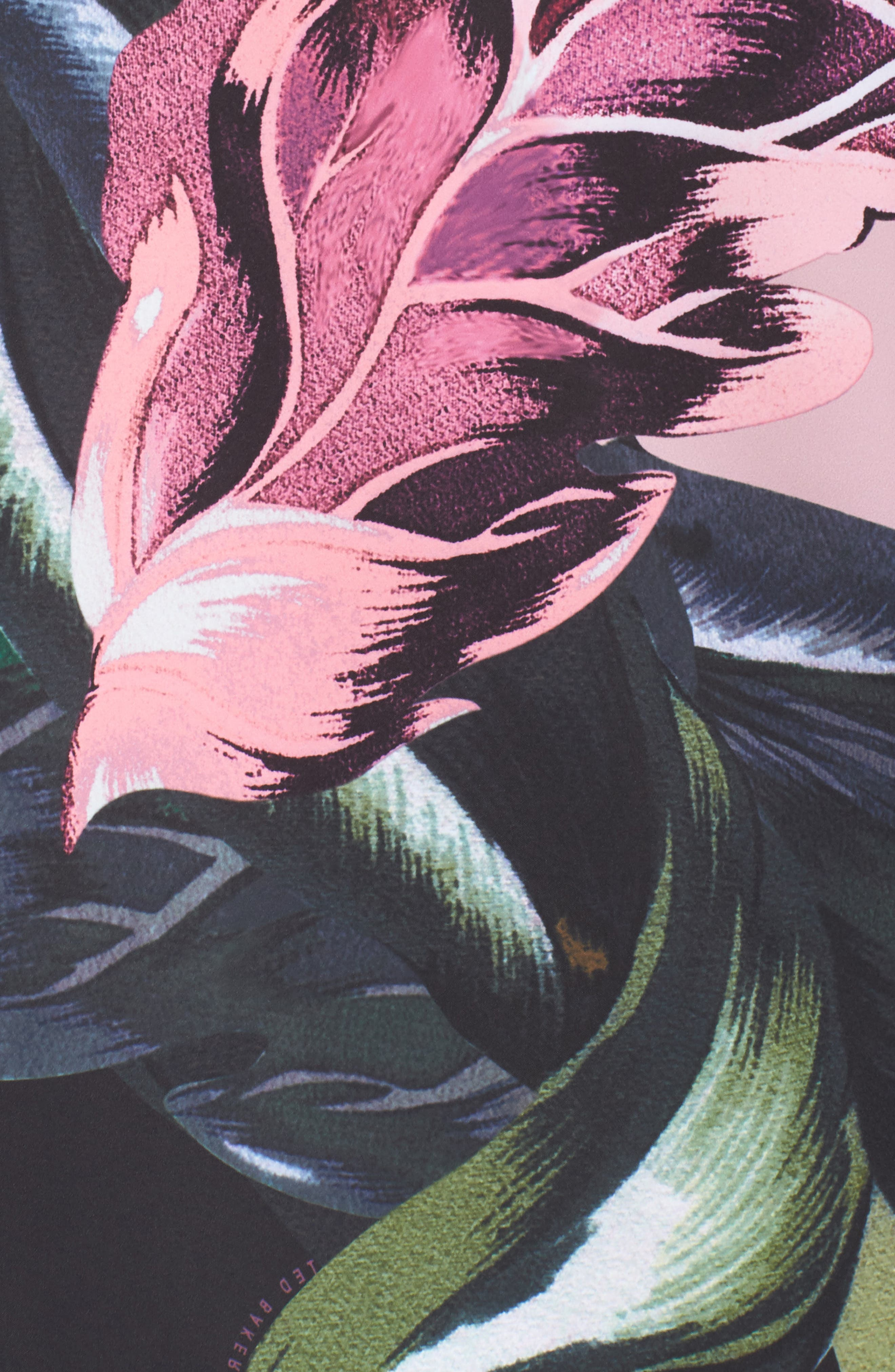 Eden Floral Print Jacket,                             Alternate thumbnail 6, color,                             Black