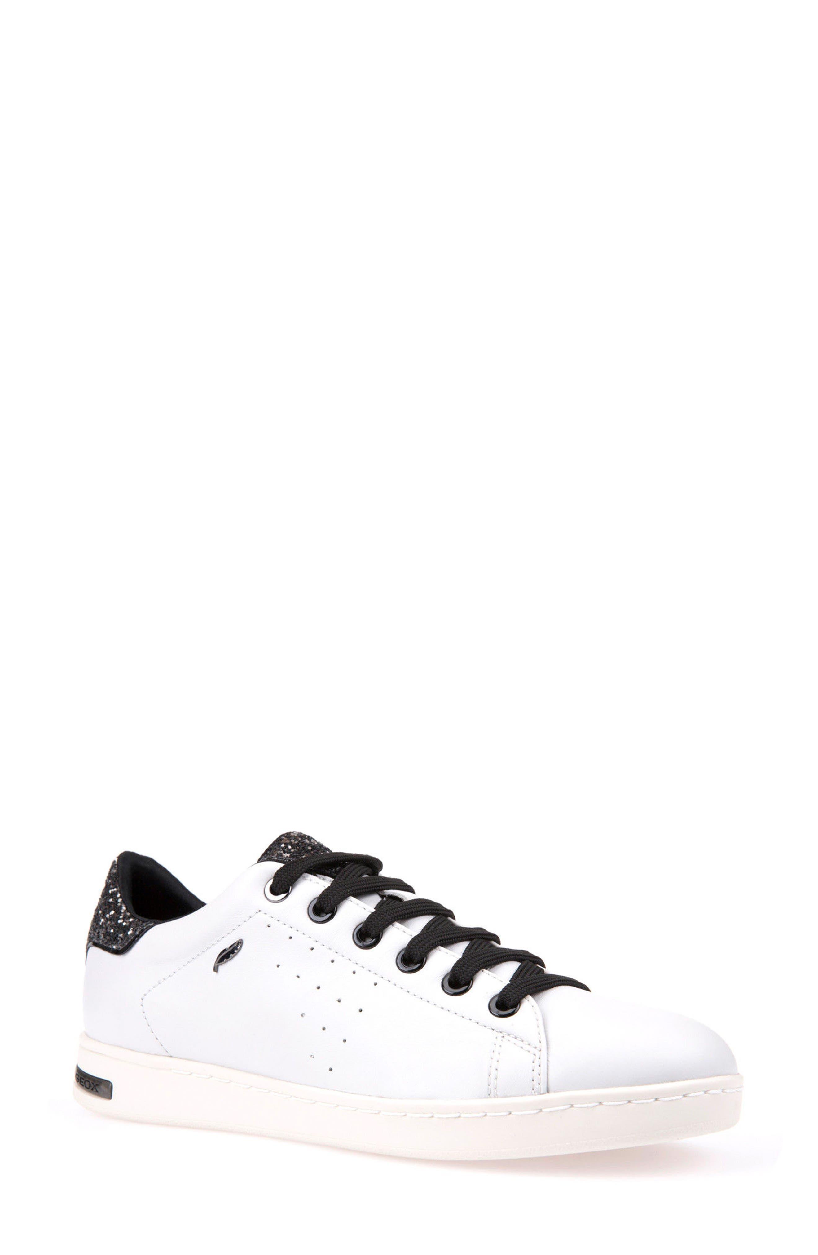 'Jaysen' Sneaker,                             Main thumbnail 1, color,                             White/ Silver Leather