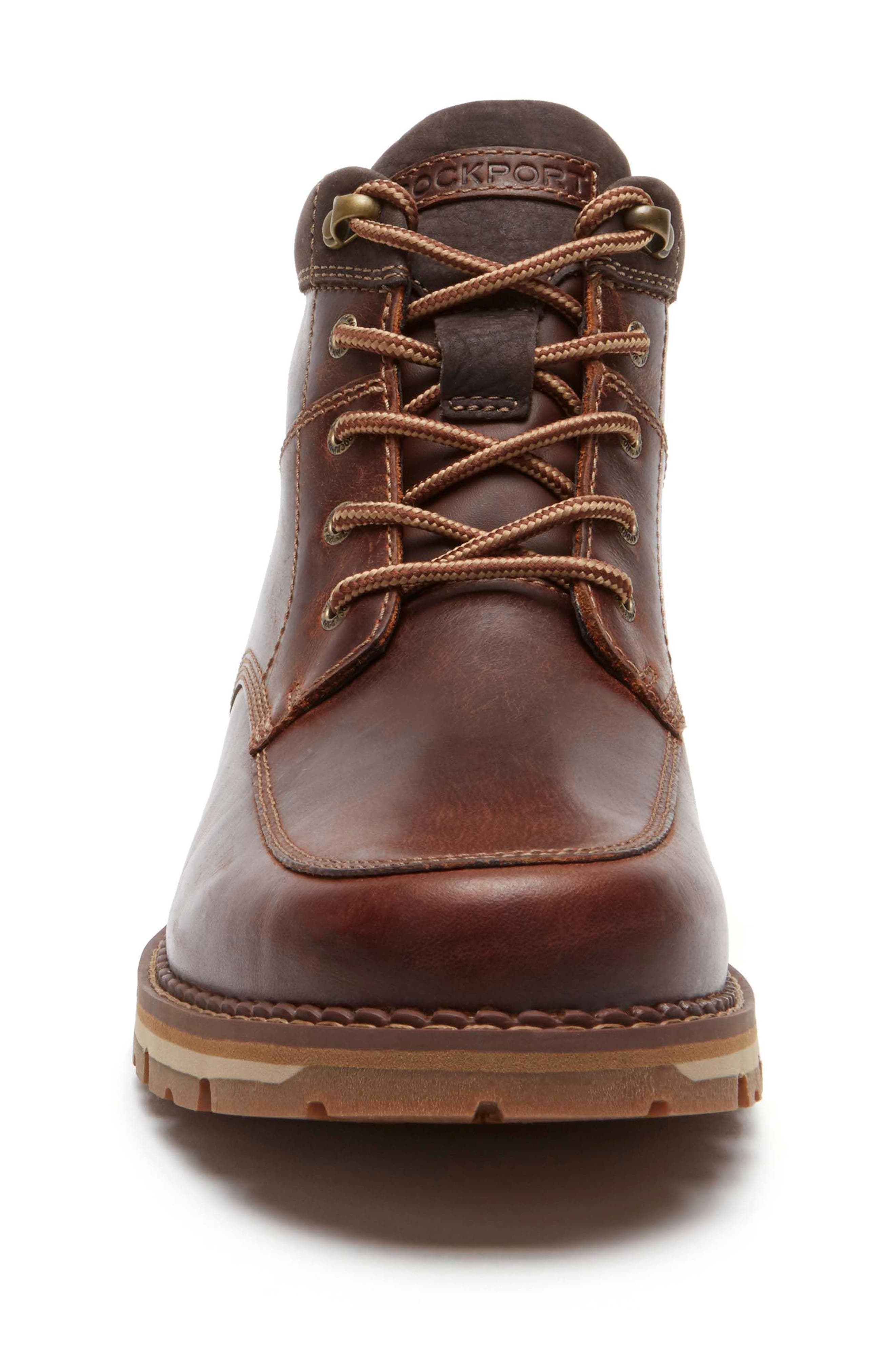 Centry Moc Toe Boot,                             Alternate thumbnail 4, color,                             Brown Leather
