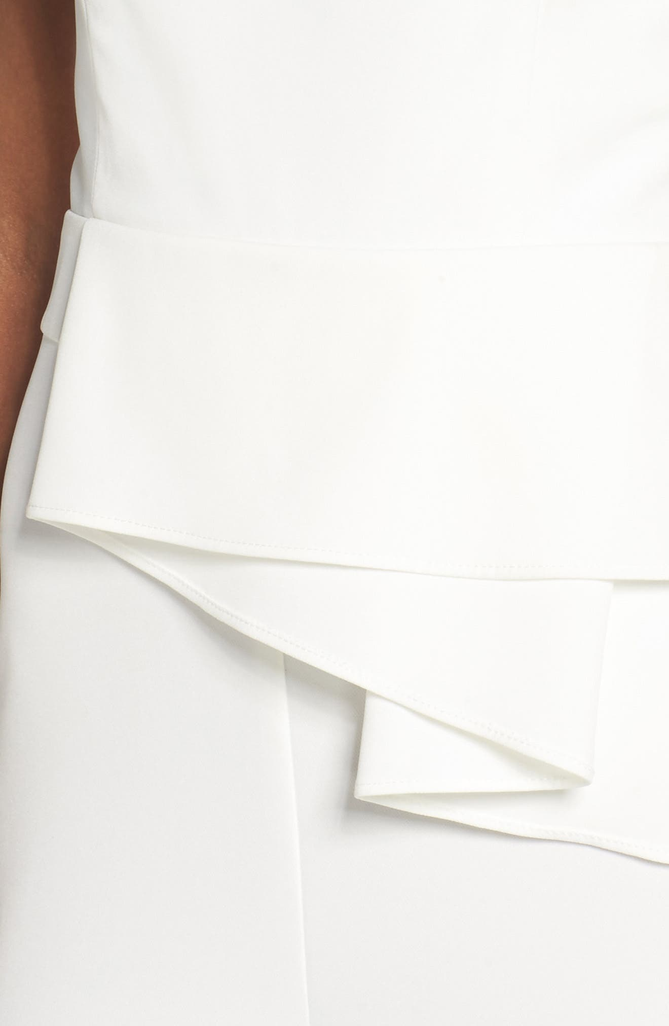 Violet Drape Waist Jumpsuit,                             Alternate thumbnail 4, color,                             White