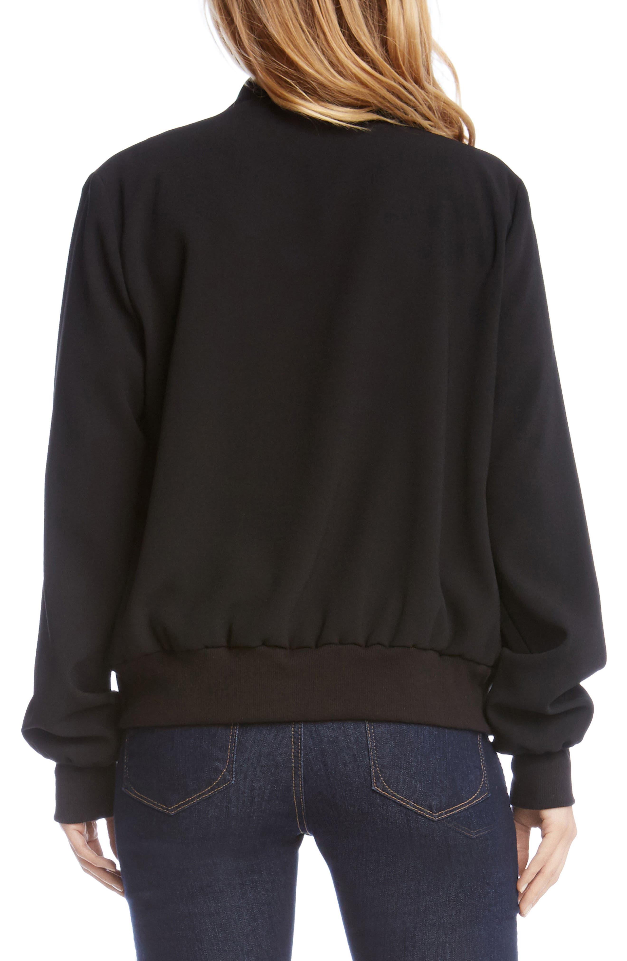 Alternate Image 3  - Karen Kane Embroidered Bomber Jacket