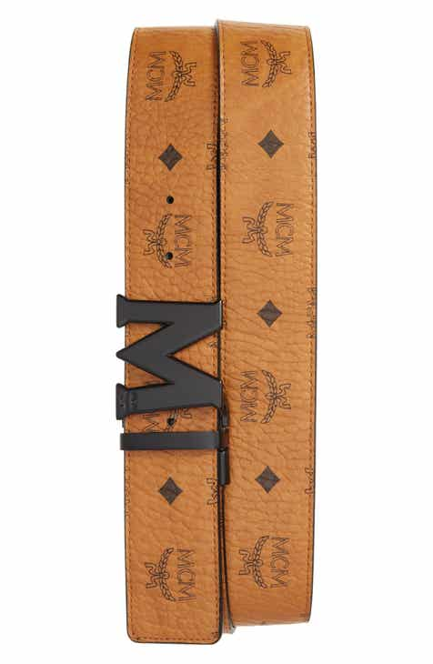 d5119bb8641e MCM Reversible Signature Leather Belt