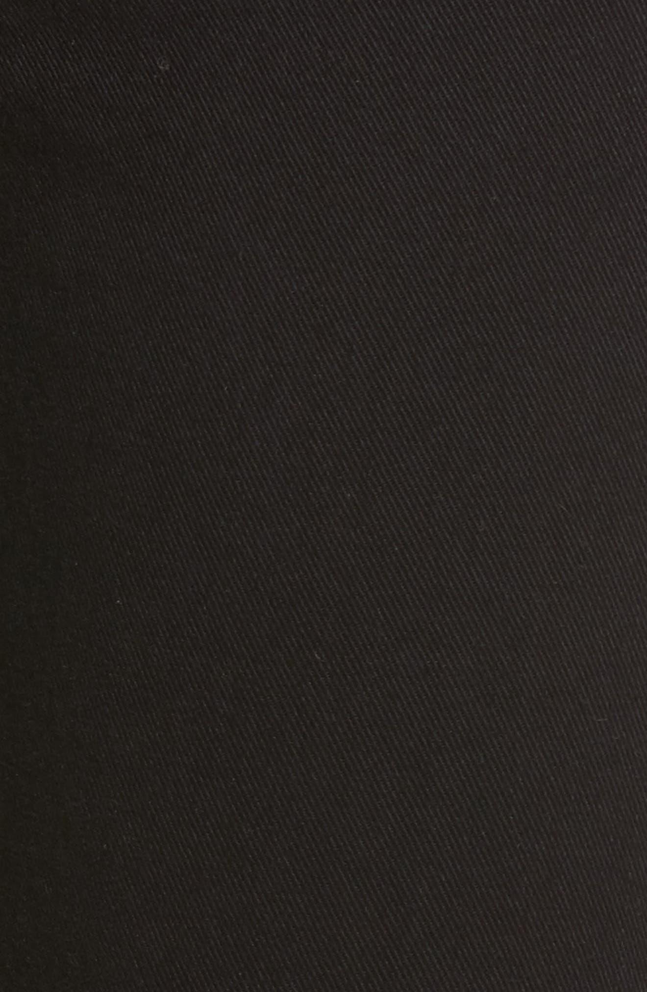 Embroidered & Studded Skinny Jeans,                             Alternate thumbnail 6, color,                             Hidden Talent Black