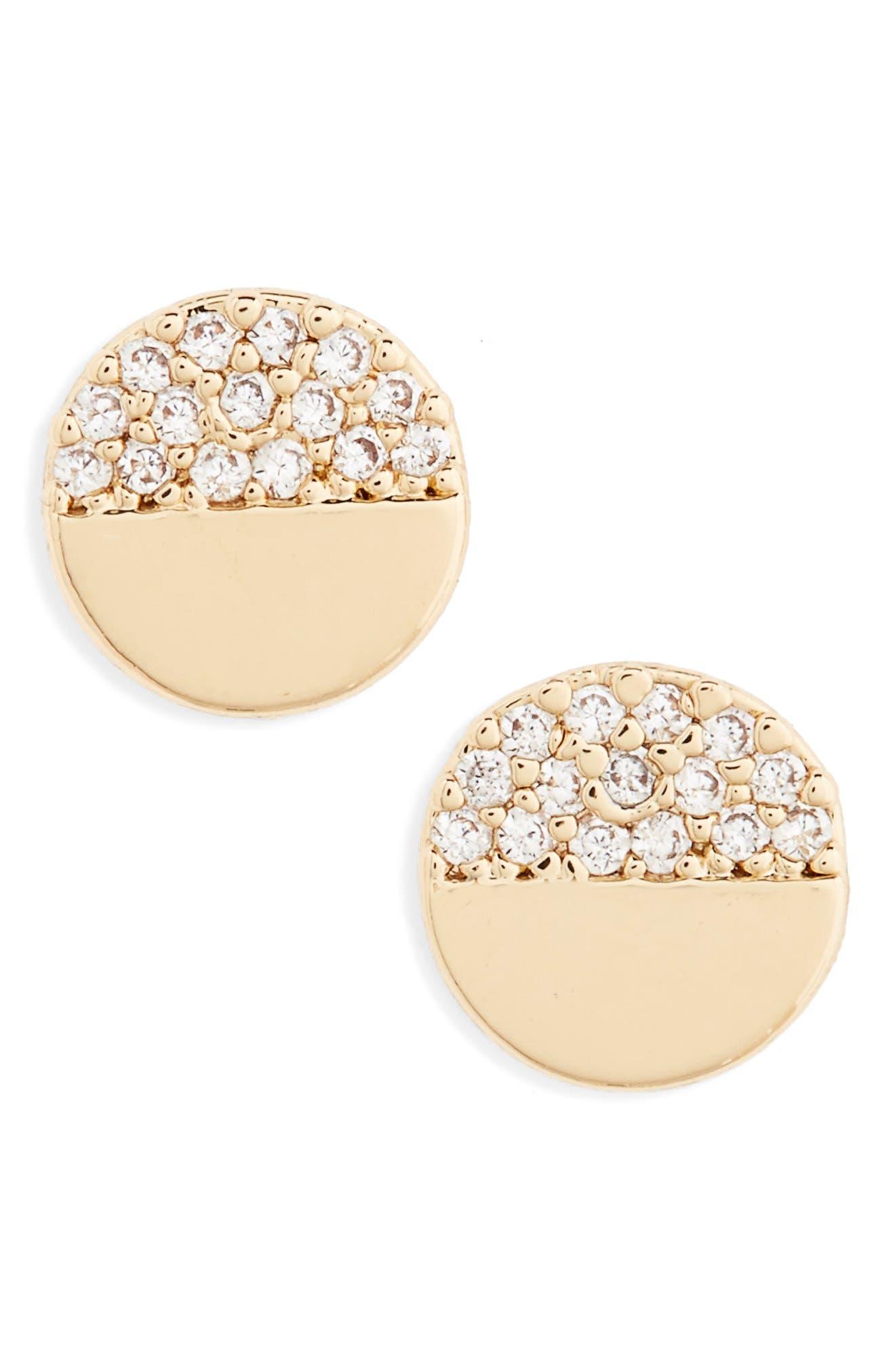 Main Image - BP. Circle Stud Earrings