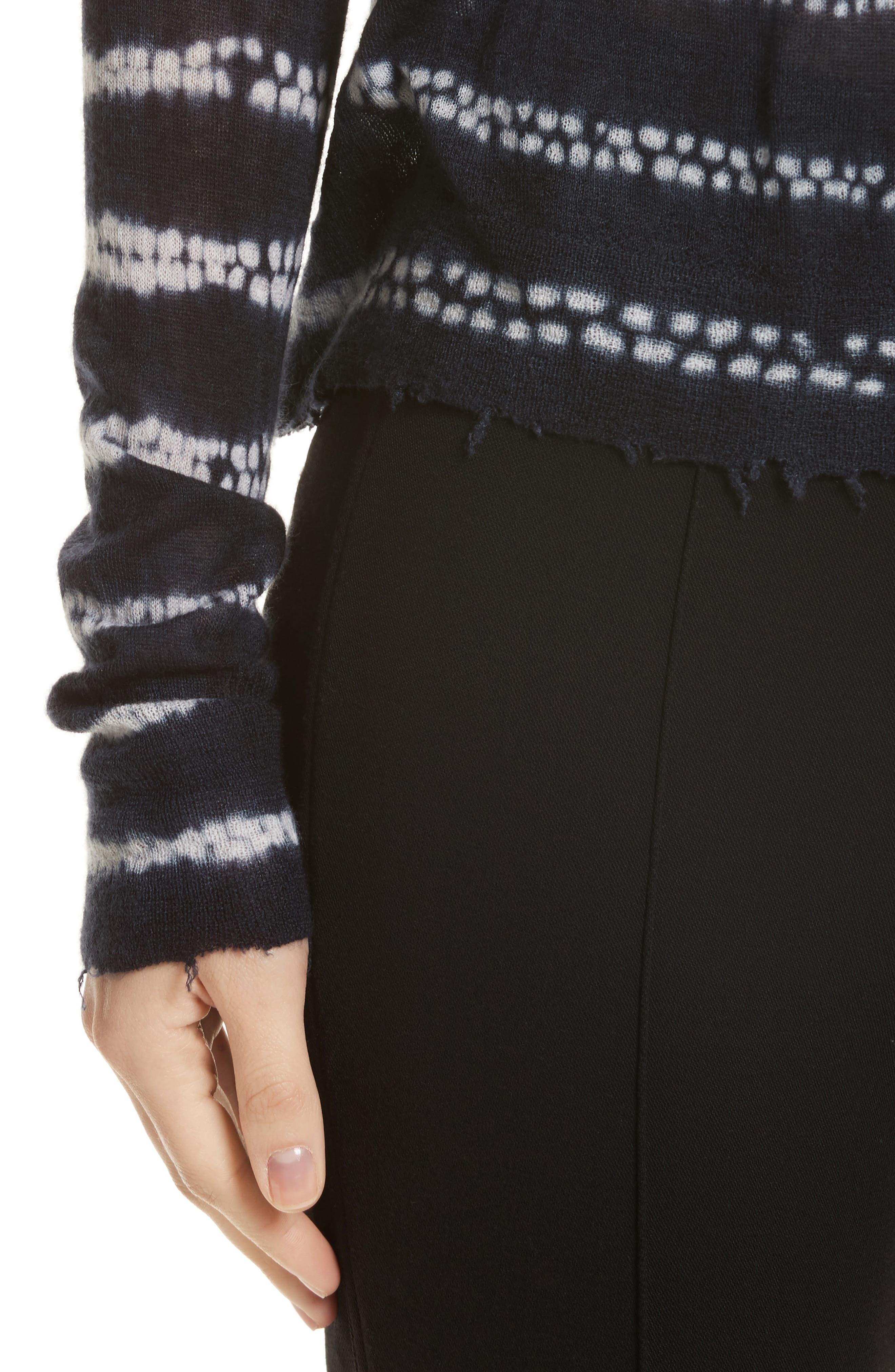 Alternate Image 4  - Helmut Lange Grunge Stripe Cashmere Sweater