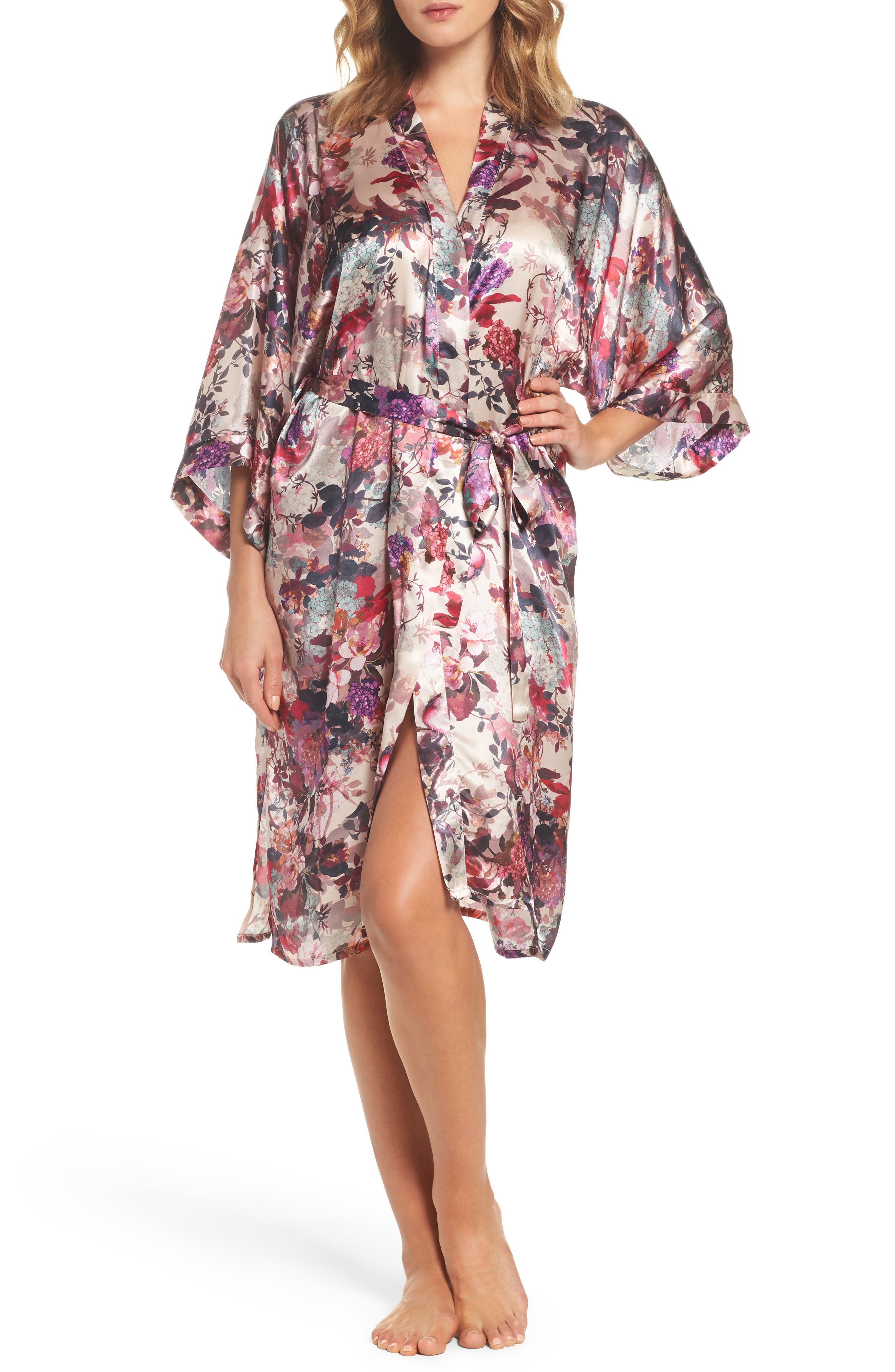 Silk Kimono,                         Main,                         color, Fall Garden