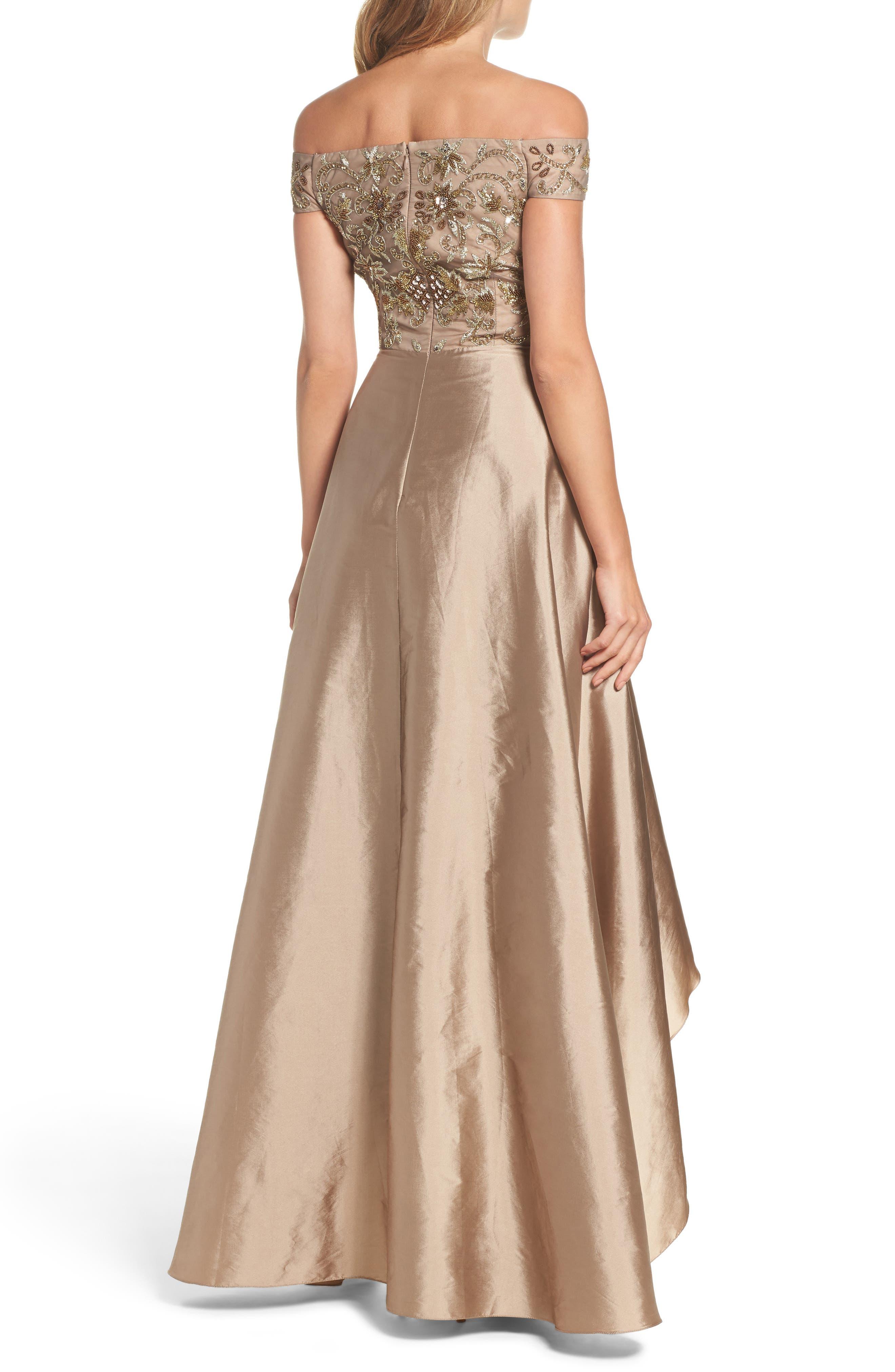 Alternate Image 2  - Adrianna Papell Embellished High/Low Off the Shoulder Dress