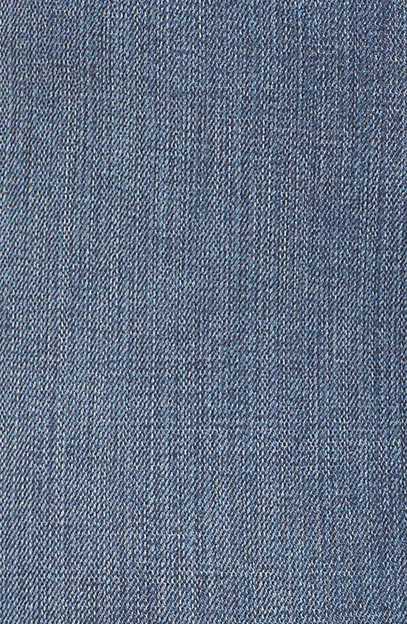 High Waist Denim Pencil Skirt,                             Alternate thumbnail 6, color,                             Blue 083