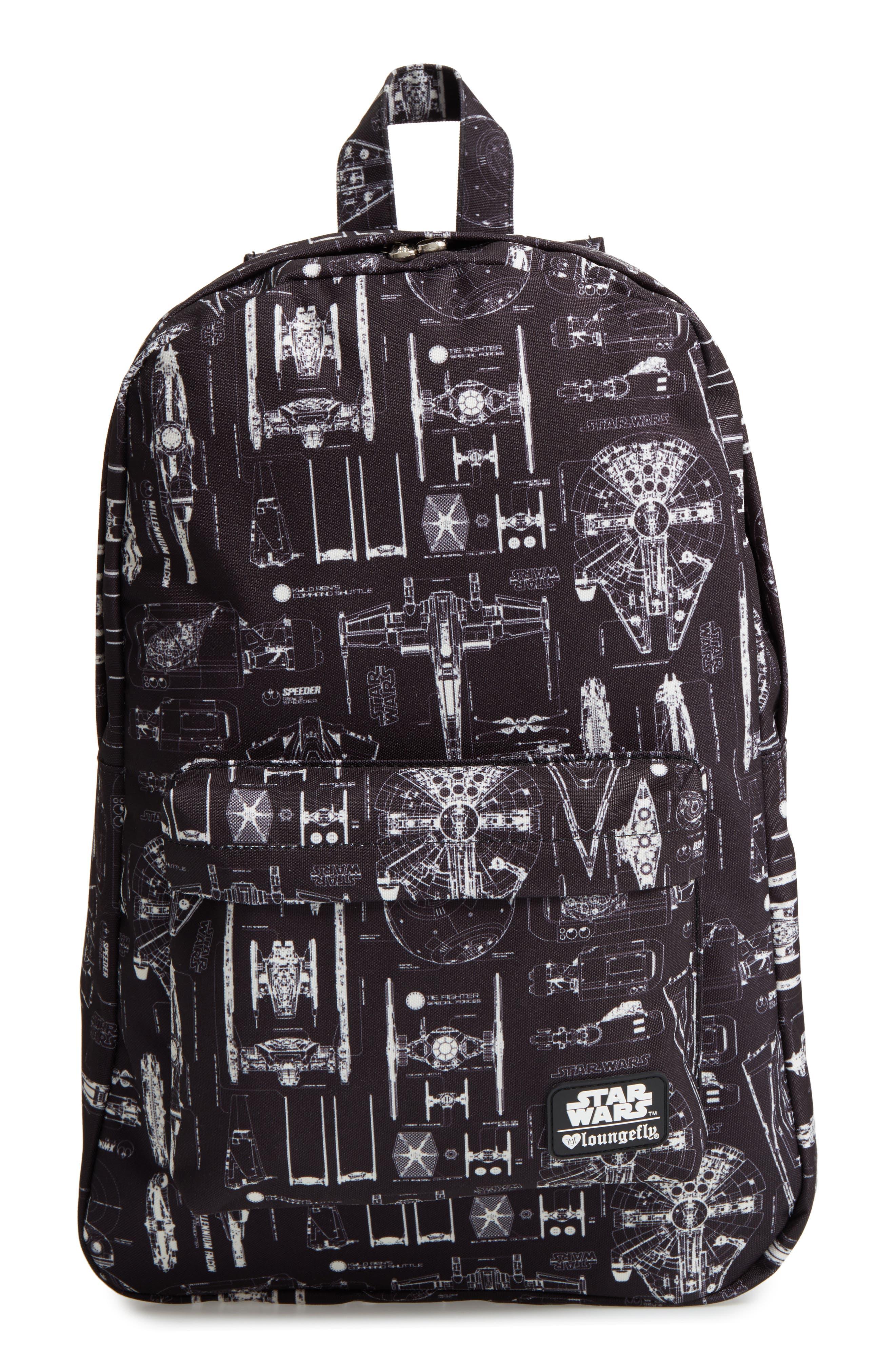 Star Wars<sup>™</sup> The Force Awakens Blueprint Backpack,                             Main thumbnail 1, color,                             Black