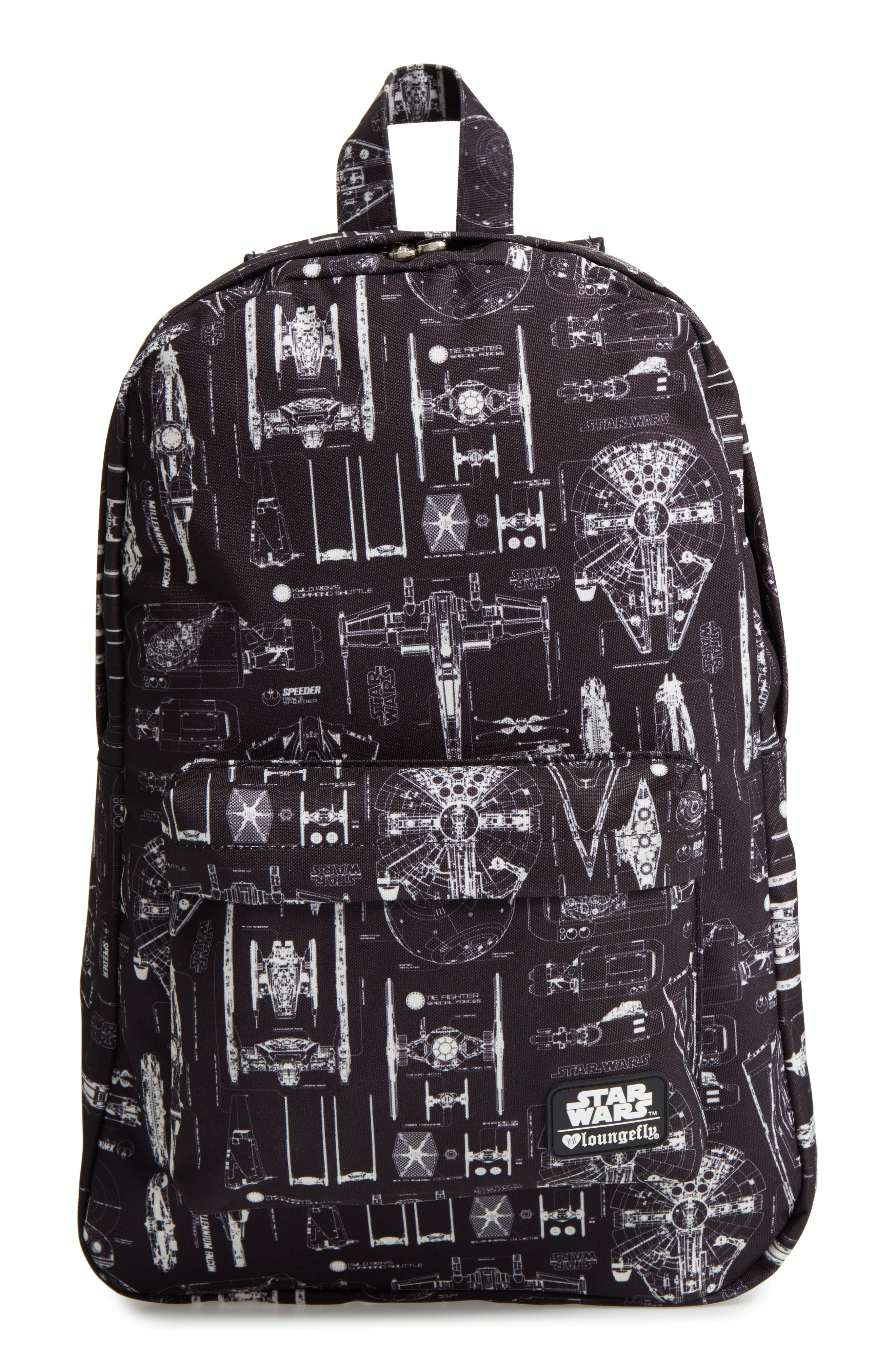 Star Wars<sup>™</sup> The Force Awakens Blueprint Backpack,                         Main,                         color, Black