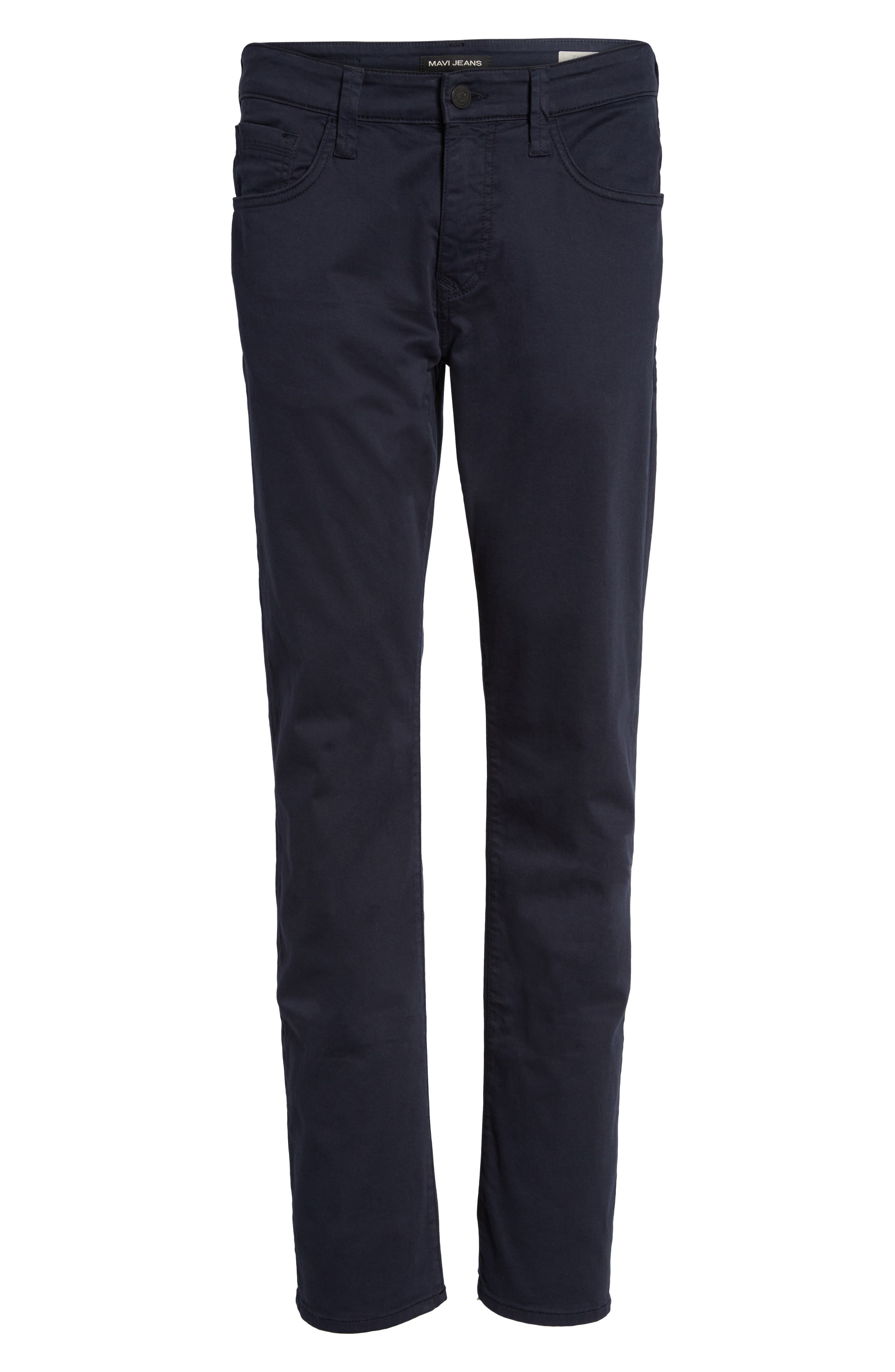Zach Straight Fit Twill Pants,                             Alternate thumbnail 6, color,                             Dark Navy Twill
