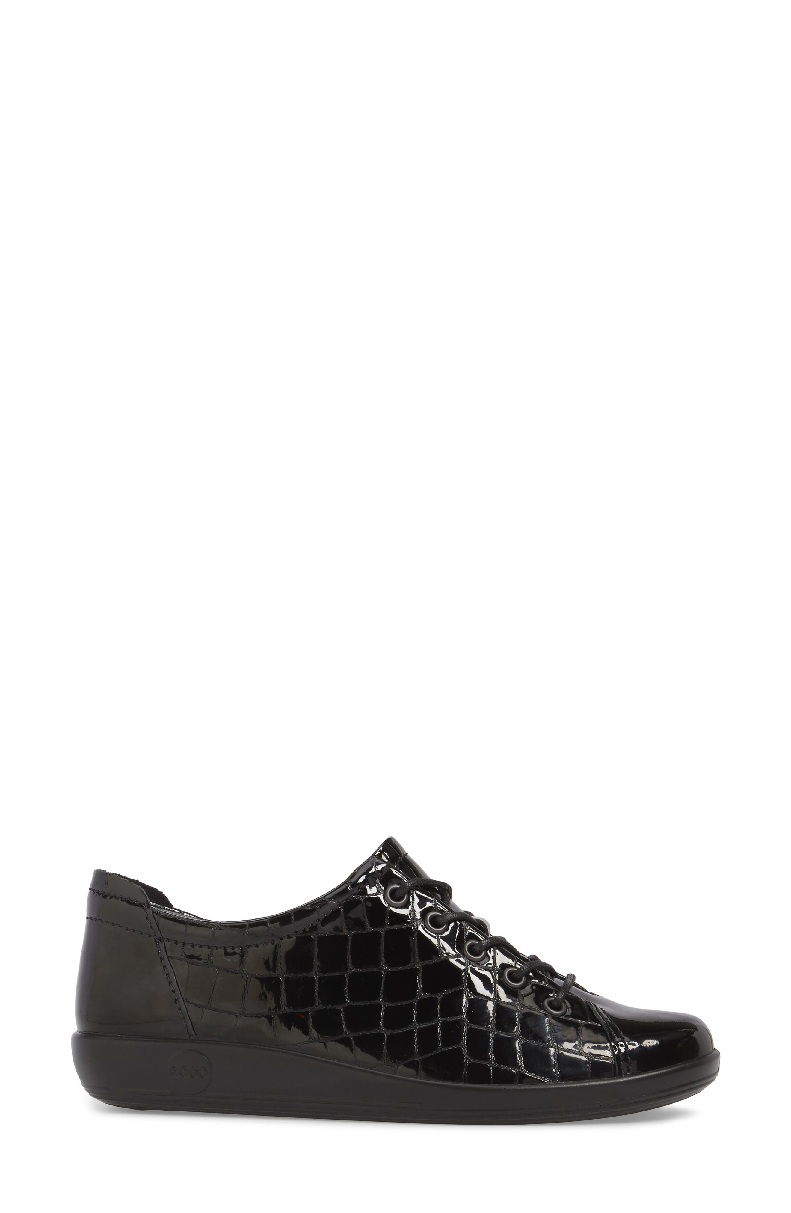 'Soft 2.0' Sneaker,                             Alternate thumbnail 3, color,                             Black Patent Leather