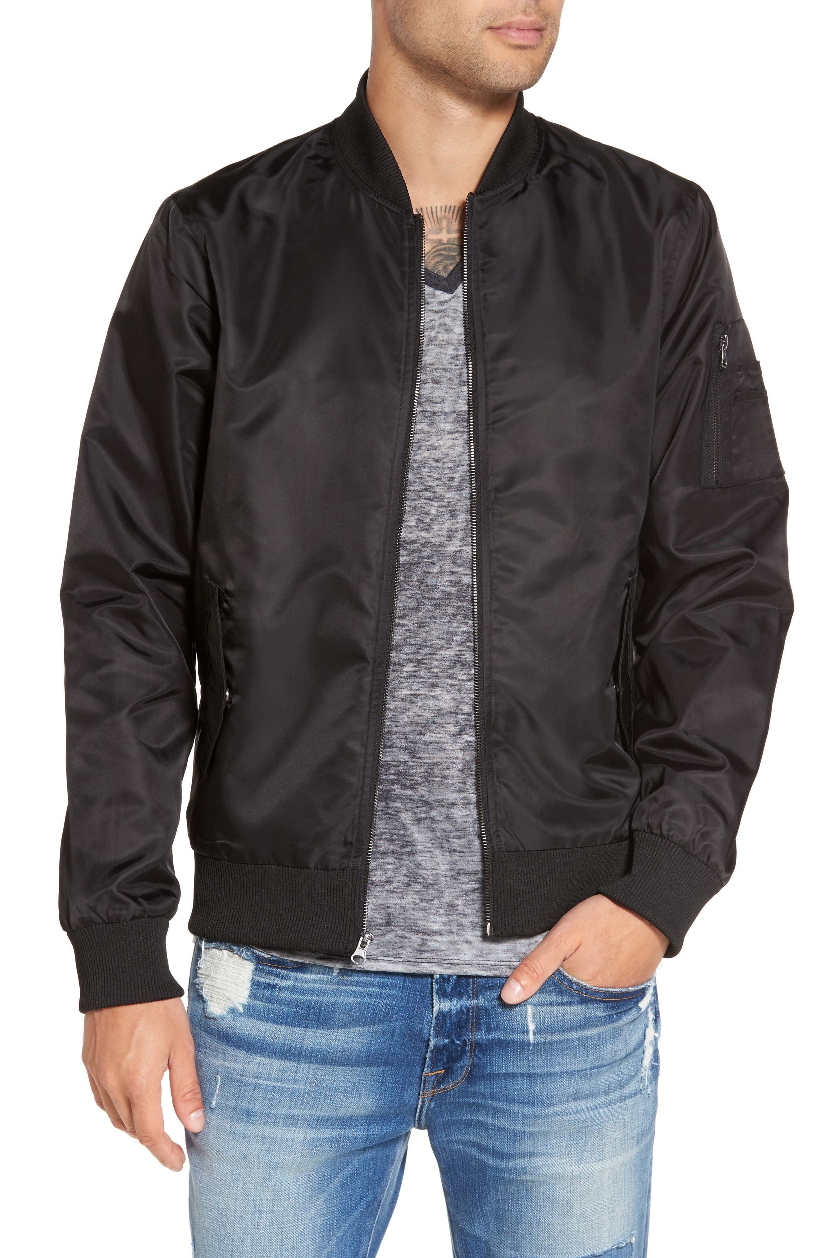 The Rail Nylon Bomber Jacket