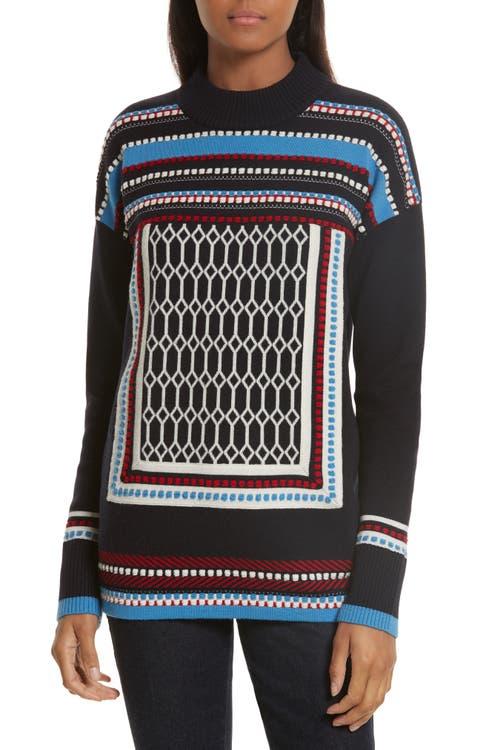 Main Image - Tory Burch Sara Merino Wool Sweater