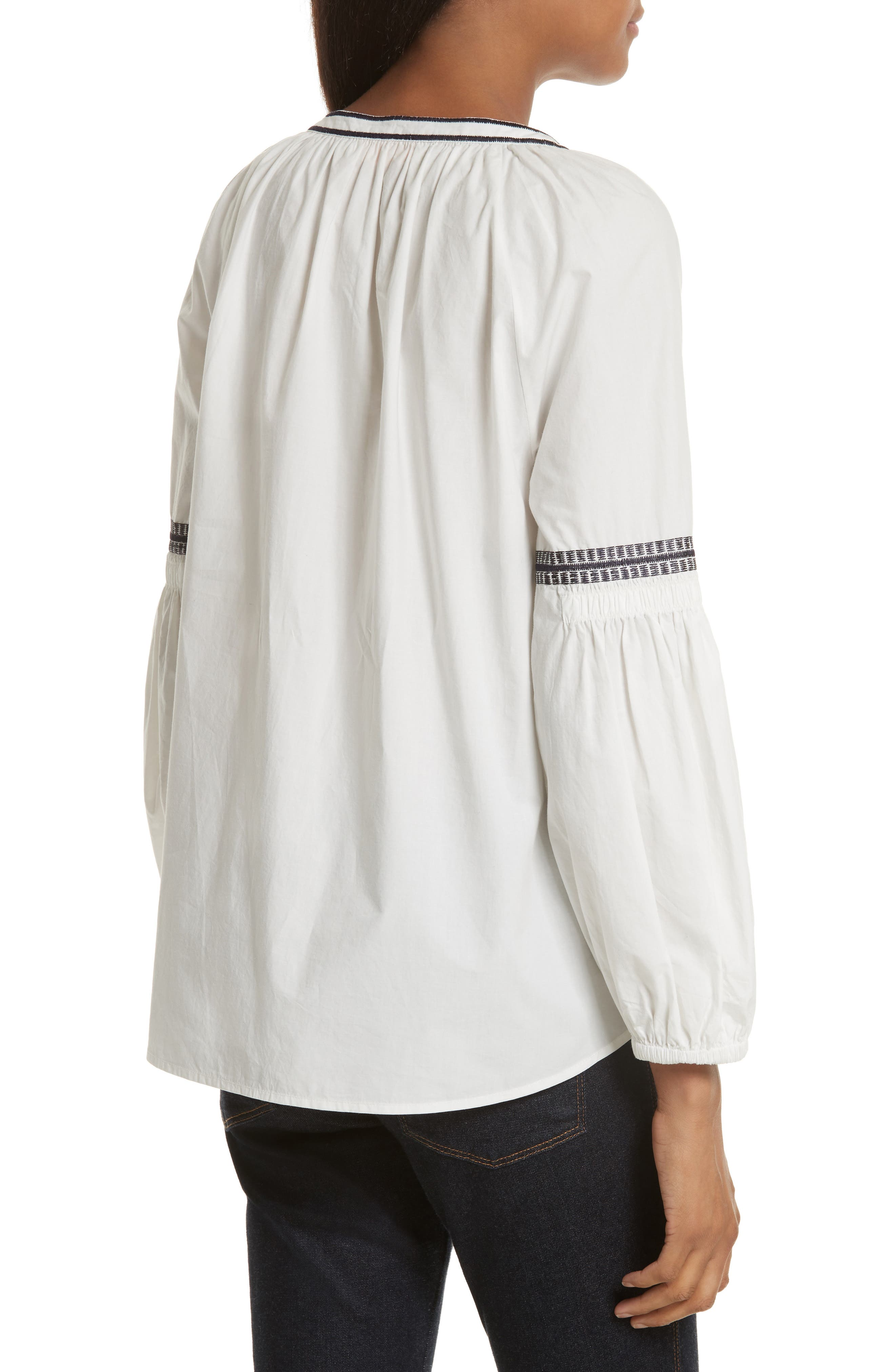 Alternate Image 2  - Tory Burch Aubrey Embroidered Peasant Top