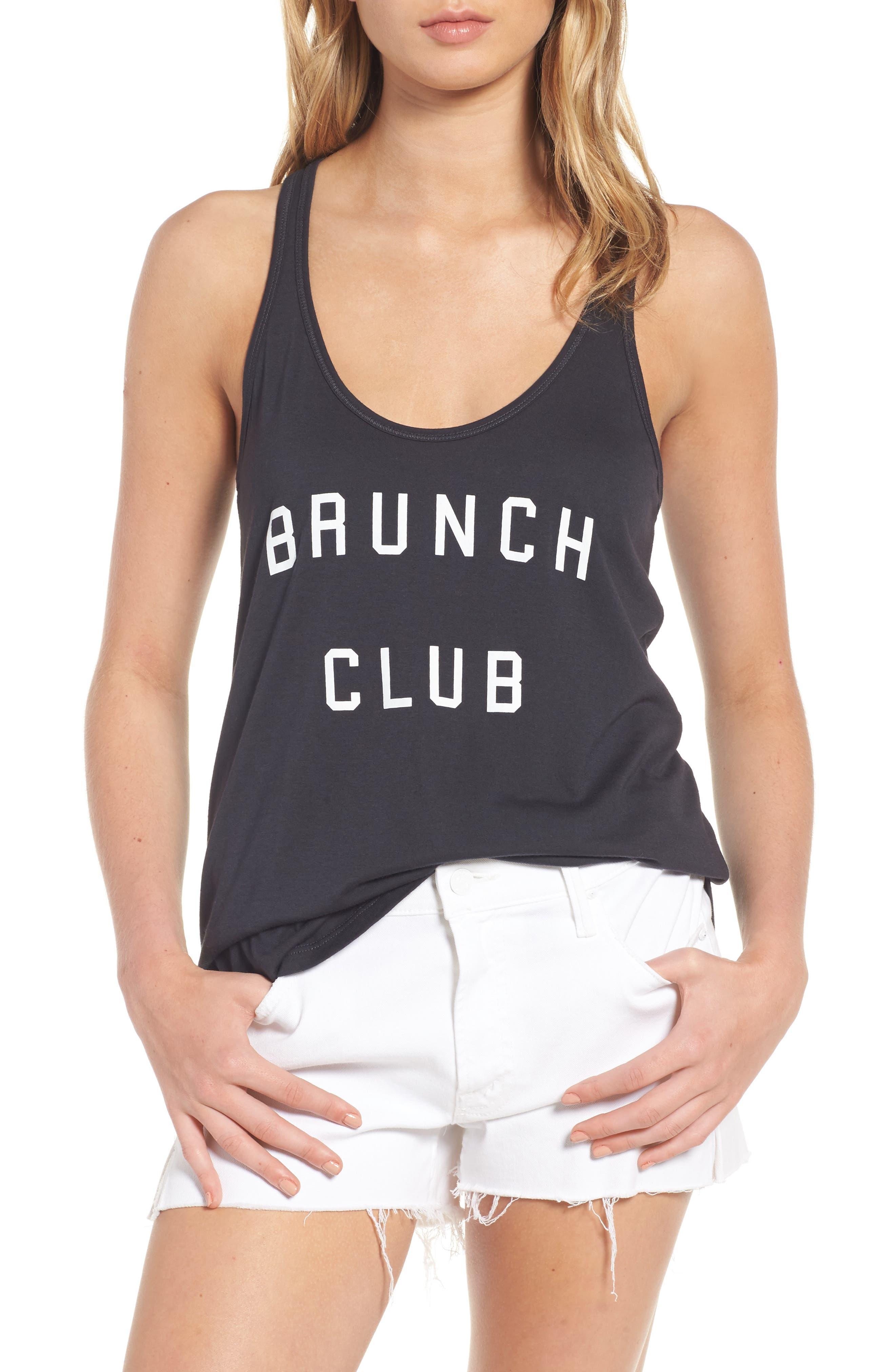 Brunch Club Tank,                         Main,                         color, Black