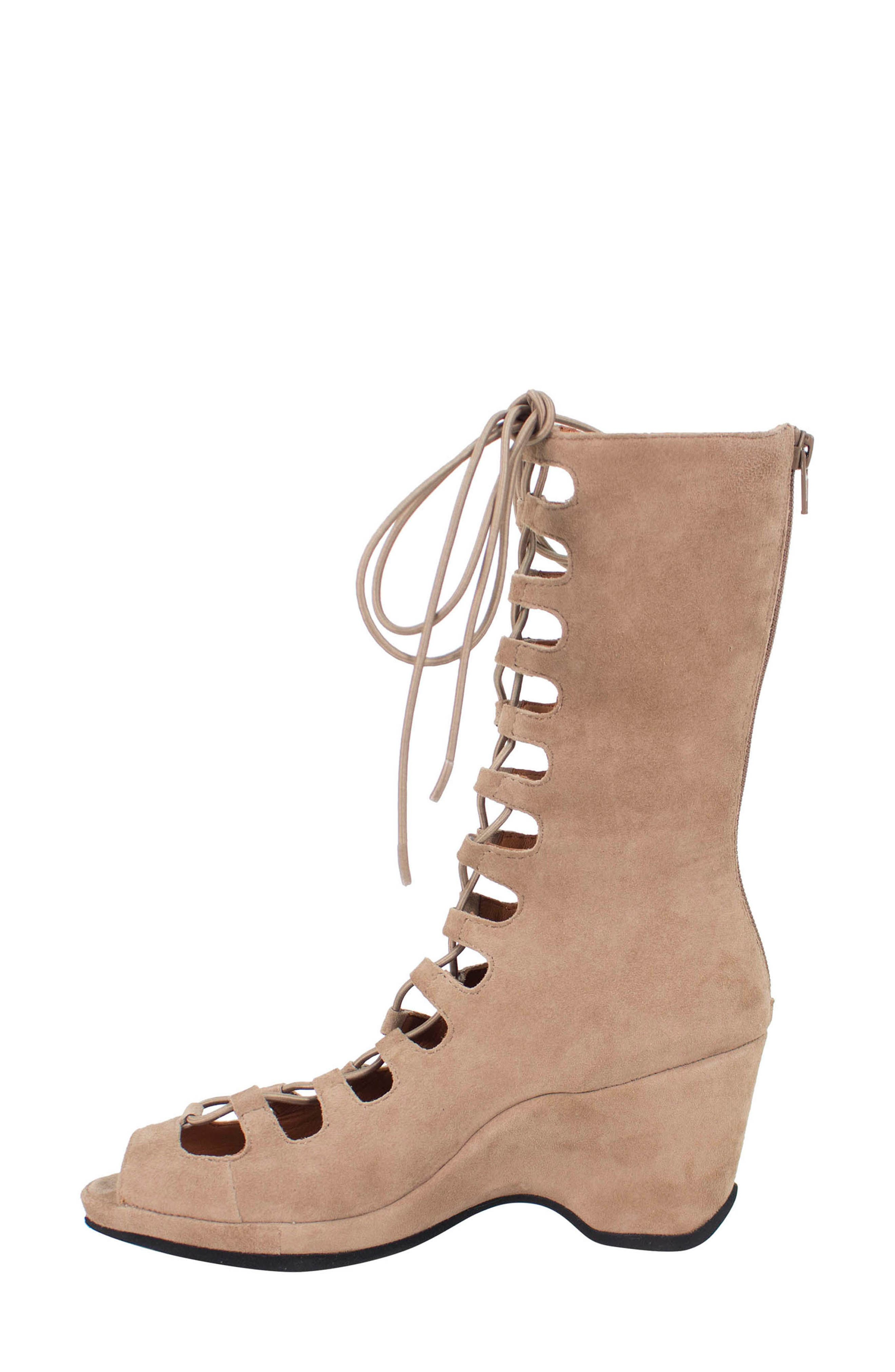 Othello Lace-Up Sandal,                             Alternate thumbnail 2, color,                             Taupe Suede