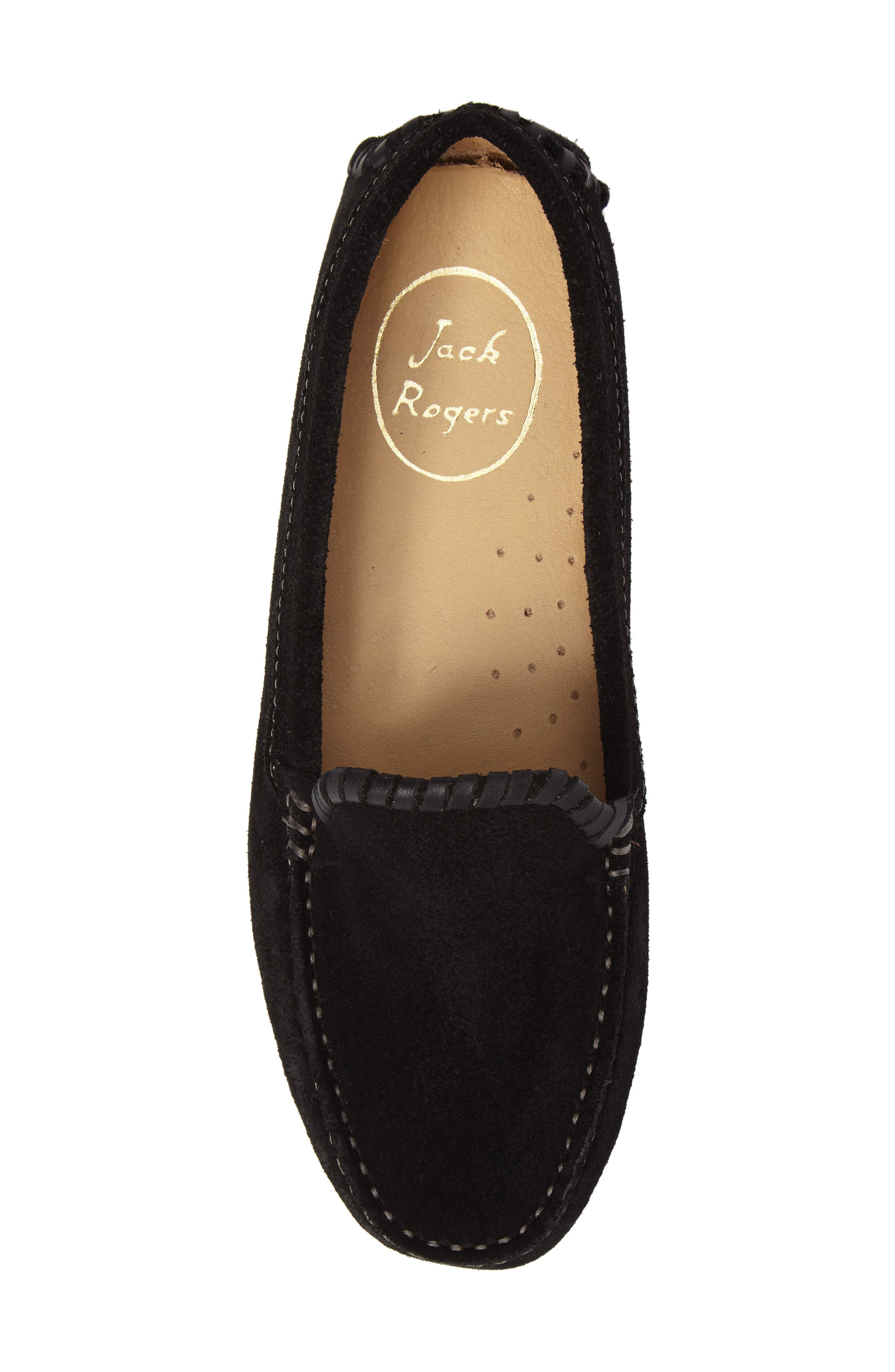 Taylor Driving Loafer,                             Alternate thumbnail 5, color,                             Black Suede