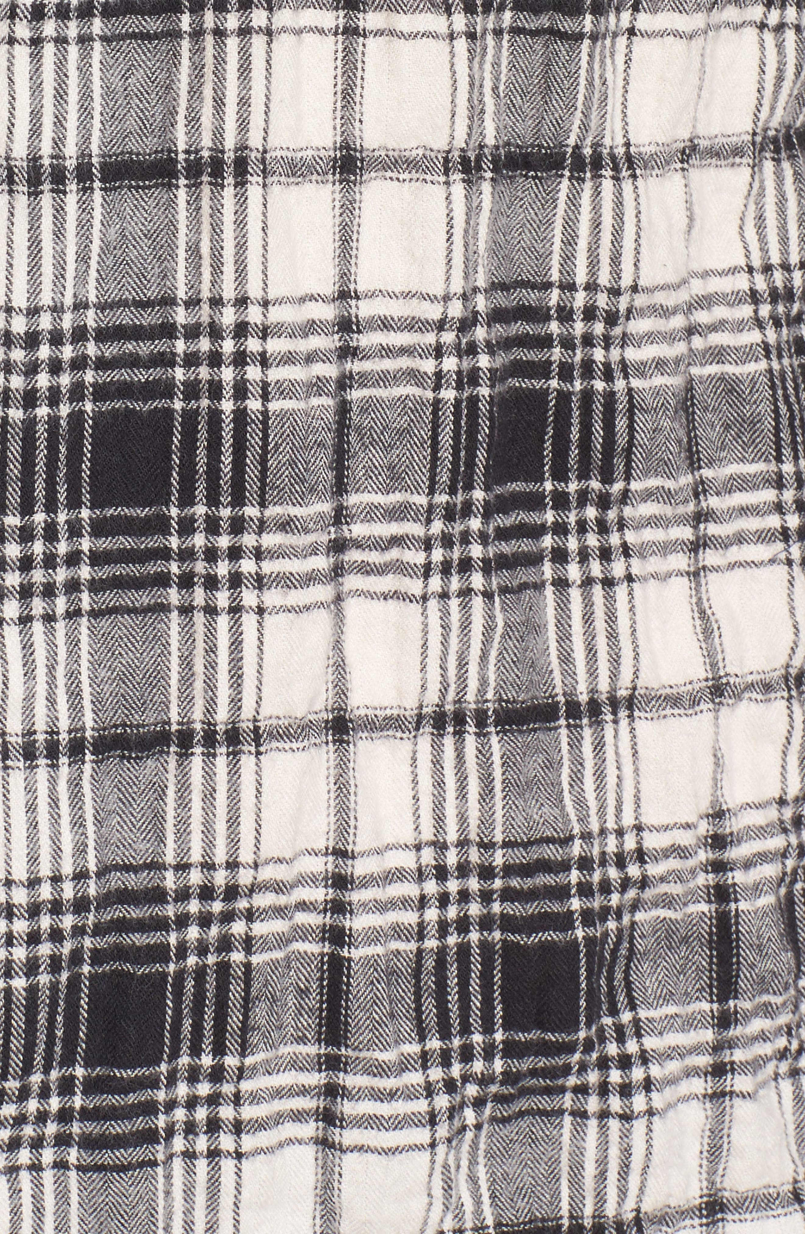 Regular Fit Plaid Flannel Sport Shirt,                             Alternate thumbnail 5, color,                             White