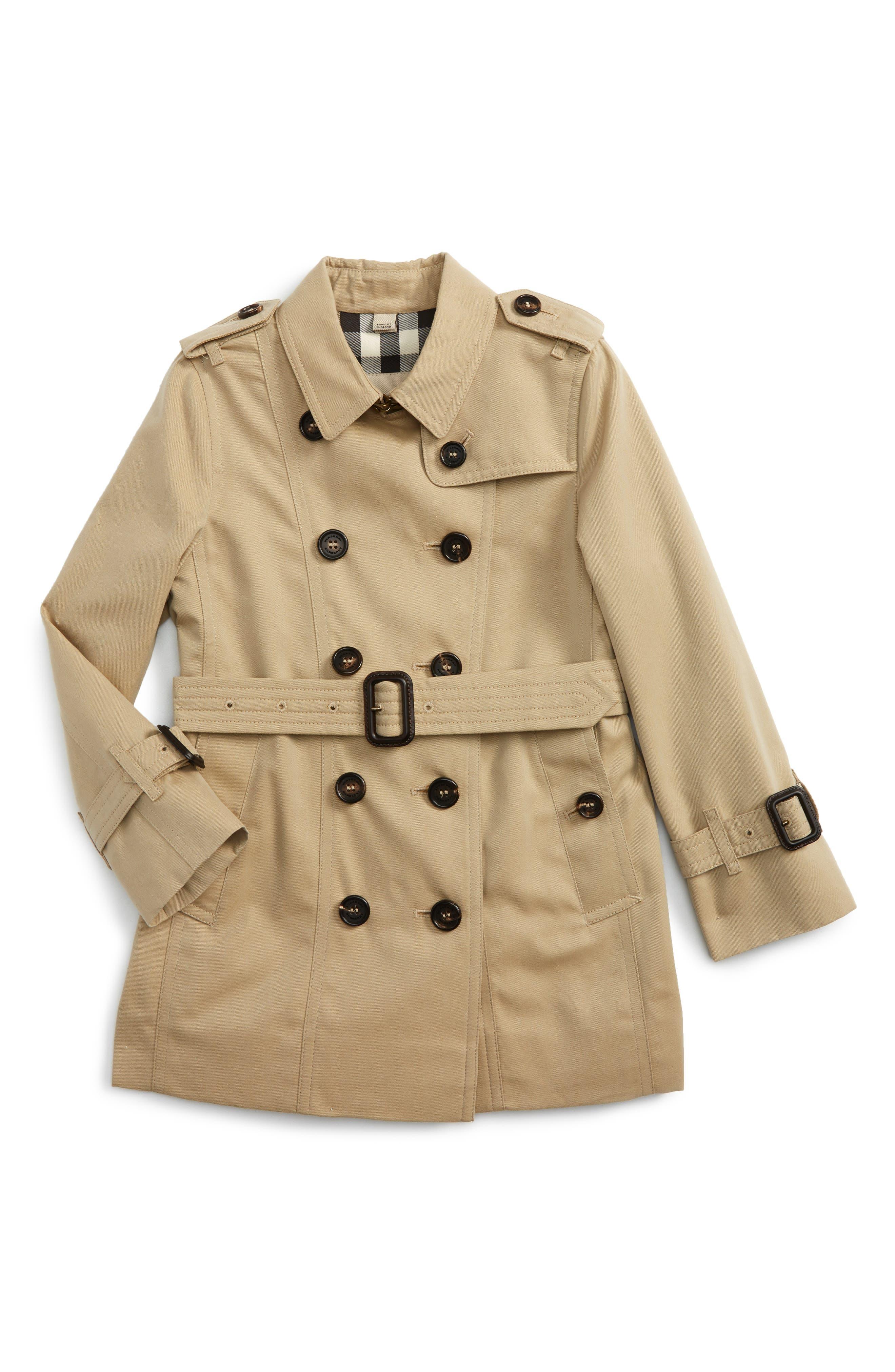 Burberry Sandringham Double Breasted Trench Coat (Little Girls & Big Girls)