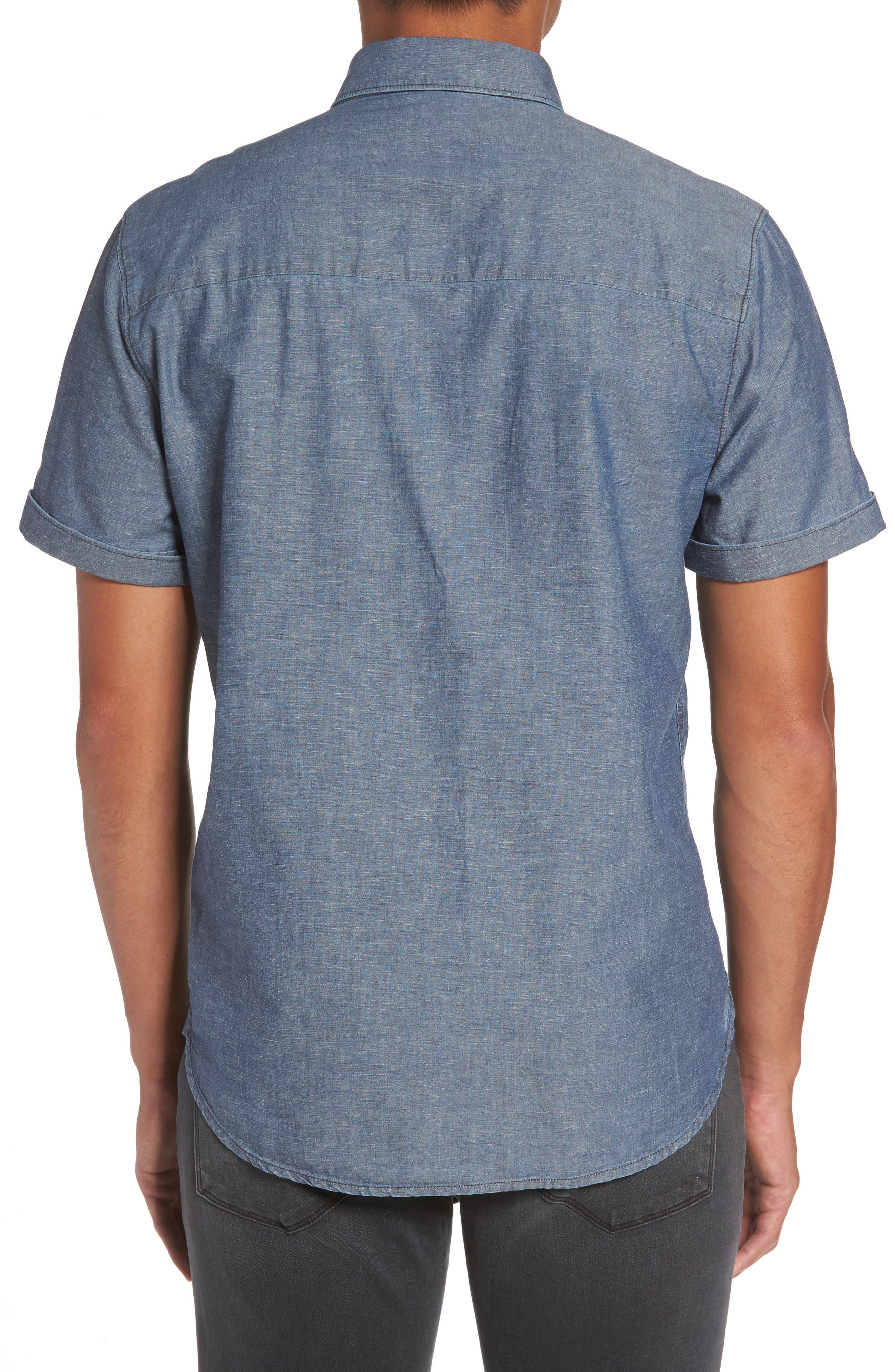 Flynn Lightweight Denim Shirt,                             Alternate thumbnail 2, color,                             Blue Wave