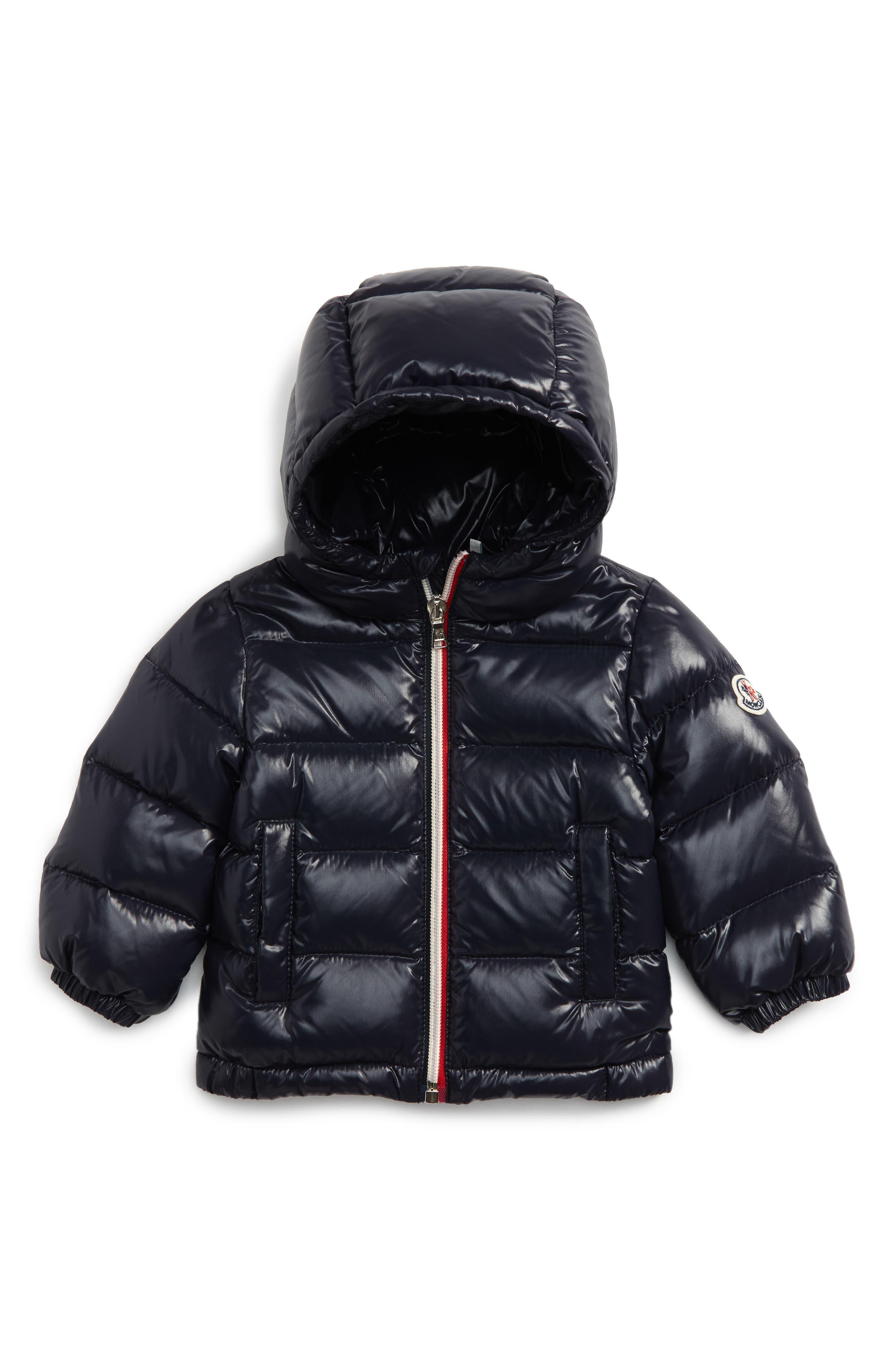 New Aubert Hooded Water Resistant Down Jacket,                         Main,                         color, Navy