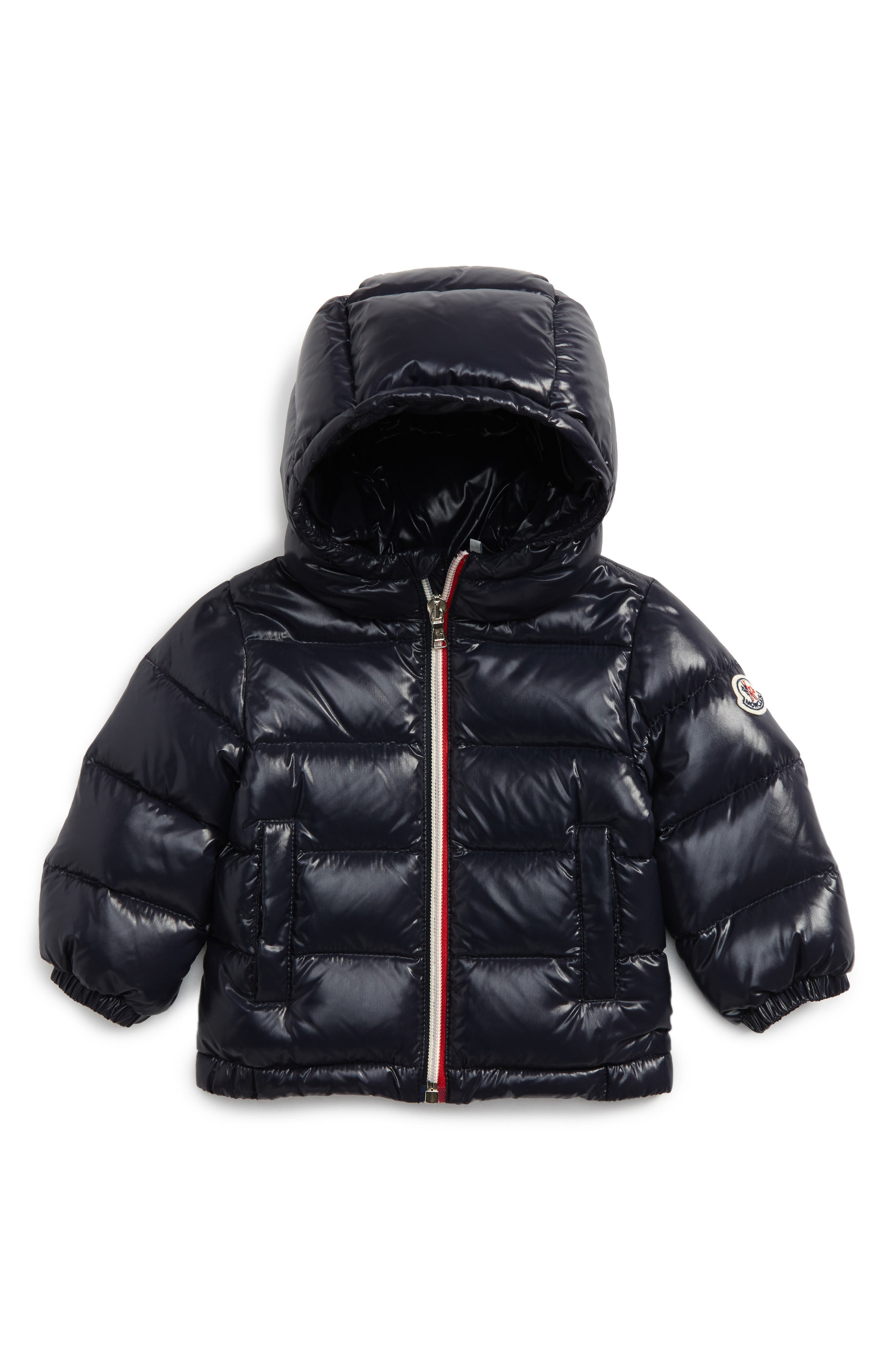 Moncler New Aubert Hooded Water Resistant Down Jacket (Baby Boys)