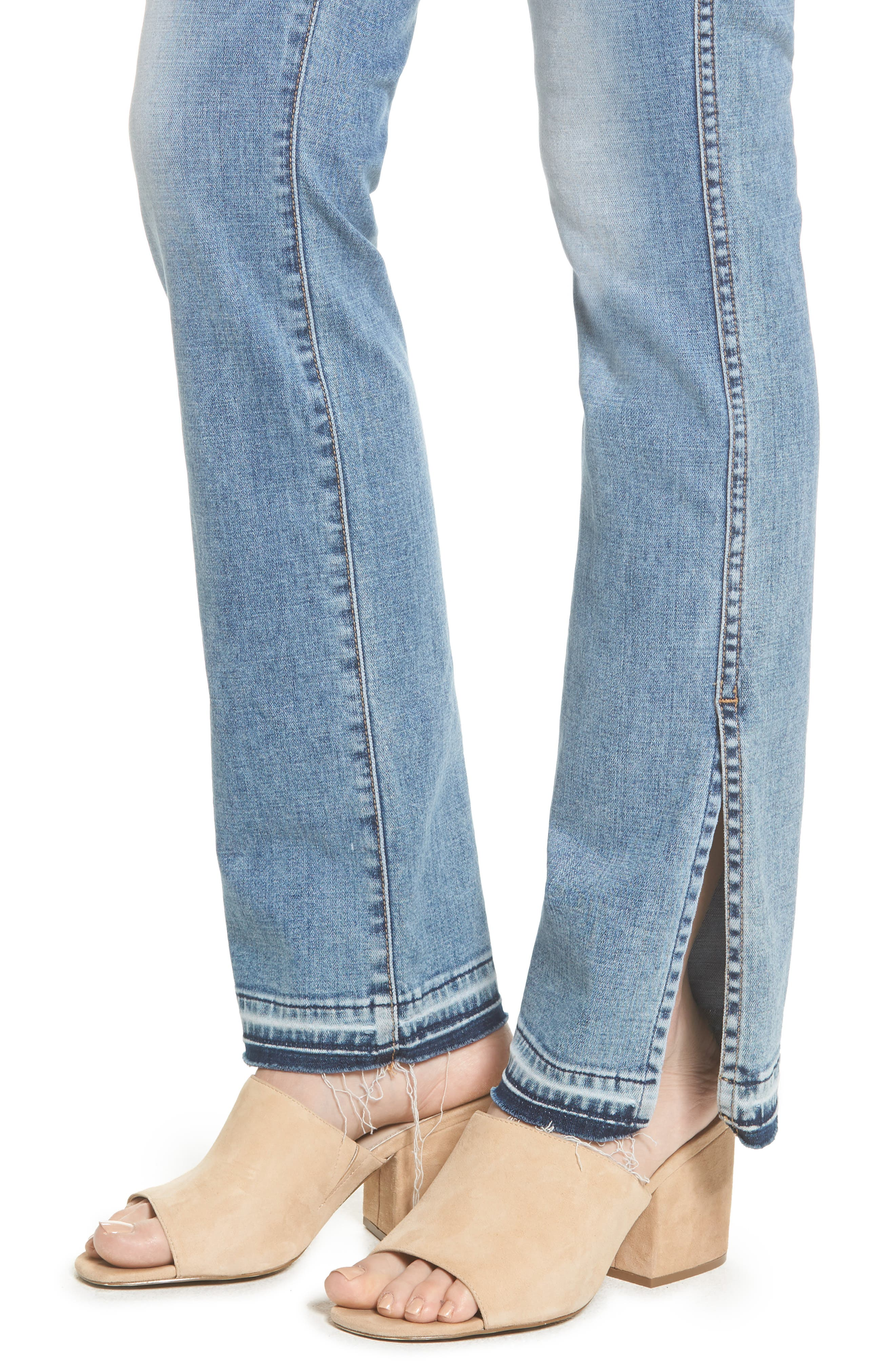 Alternate Image 4  - 7 For All Mankind® Dylan Split Hem Straight Leg Jeans (Light Lafayette)