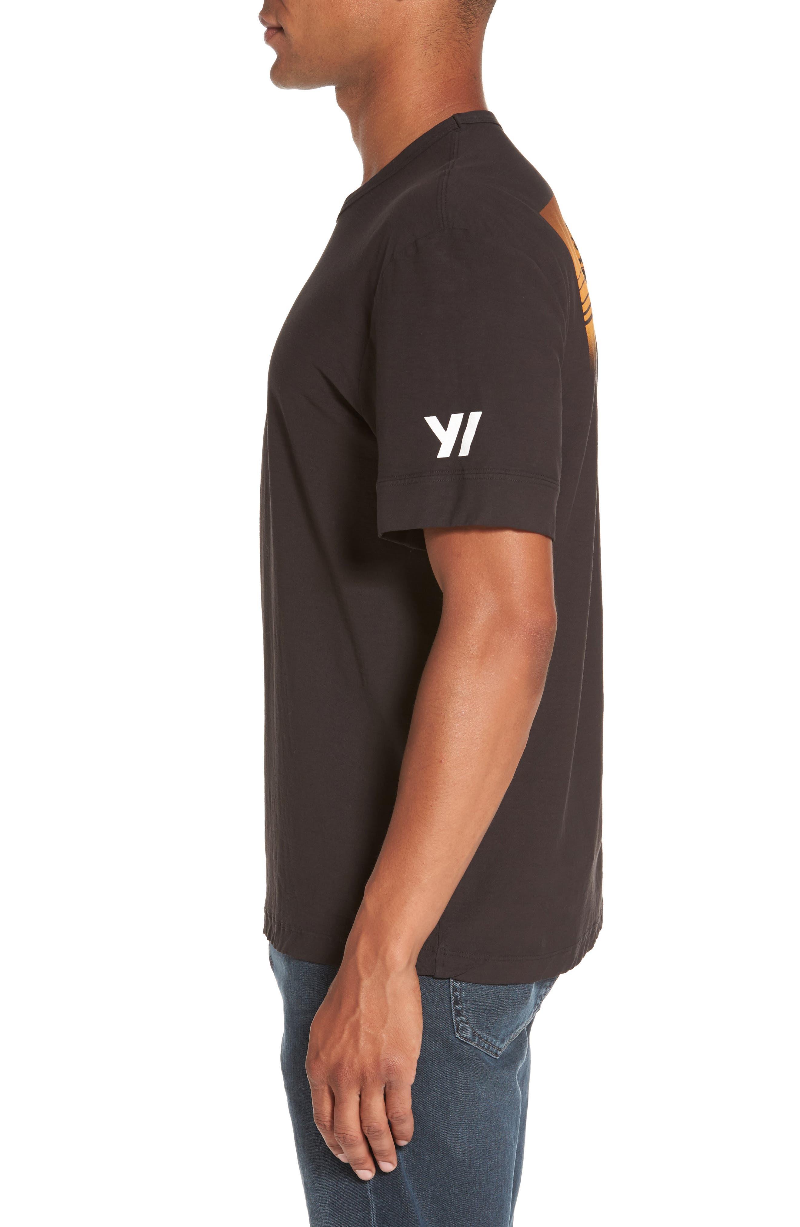 Reverse Tree Graphic T-Shirt,                             Alternate thumbnail 3, color,                             Carbon